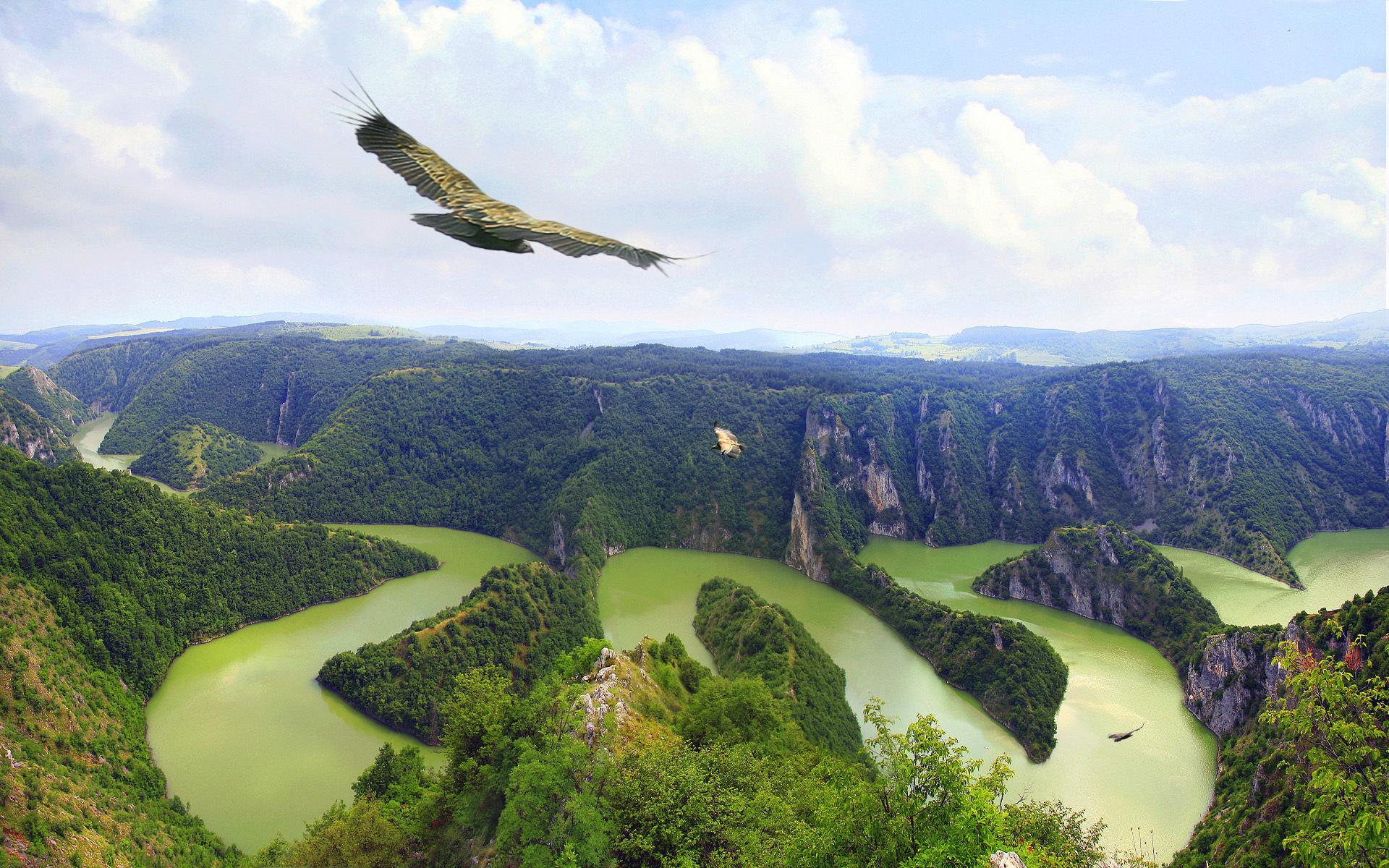 горы река ущелье загрузить