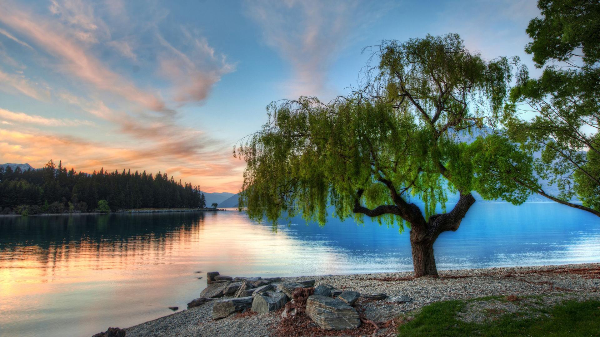 Открытка с озером, марта своими