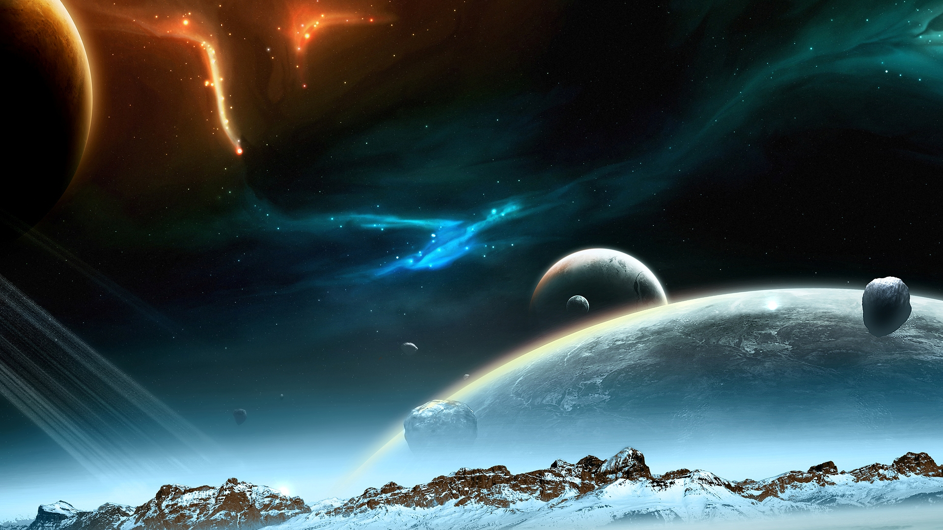 Космические пейзажи обои для рабочего стола