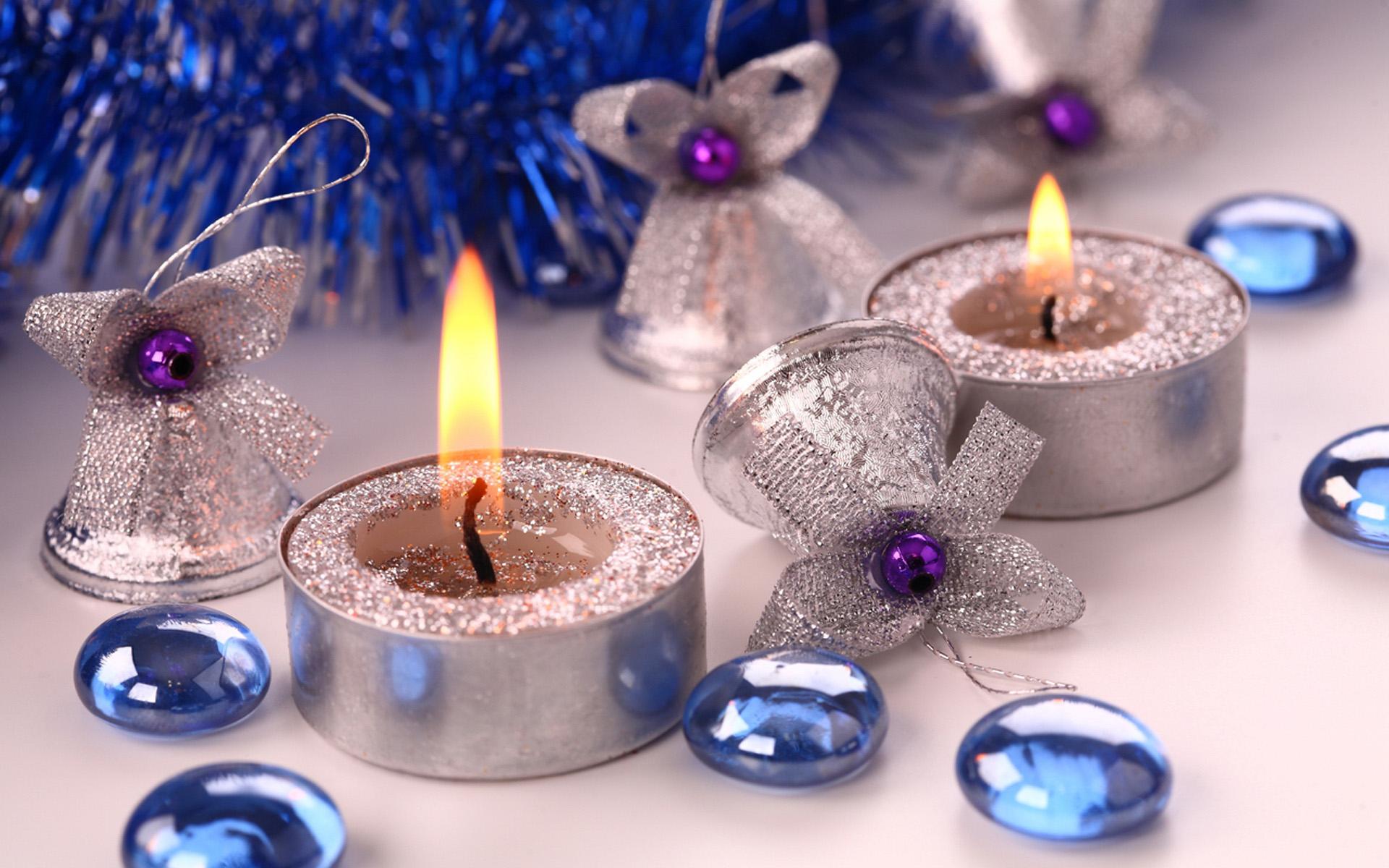 Свечи новый год  № 1395183 загрузить