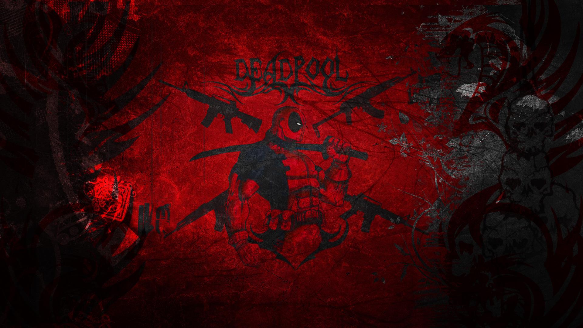 deadpool merc marvel style wallpaper red