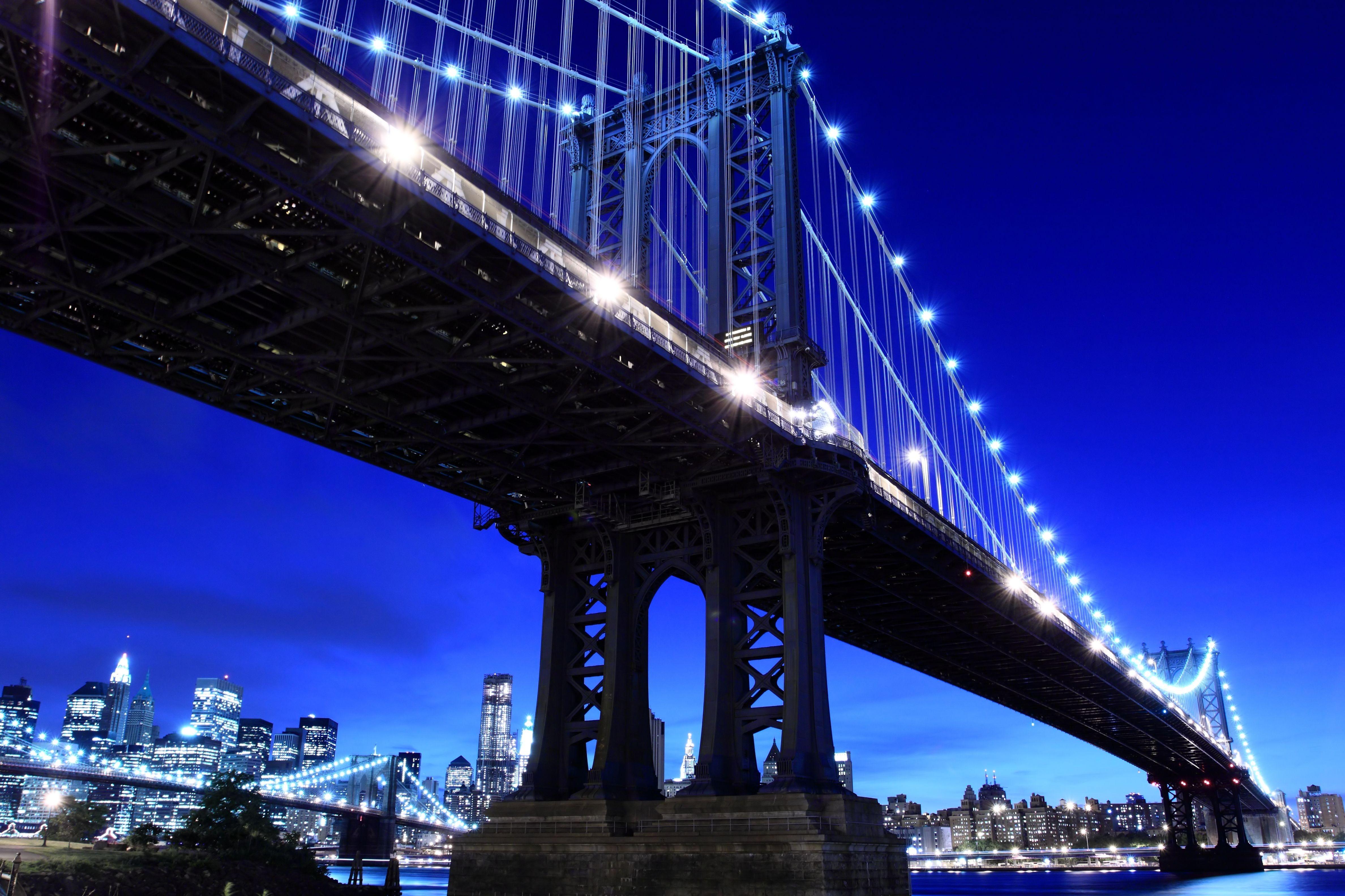 мост вечер мегаполис  № 3360587 бесплатно