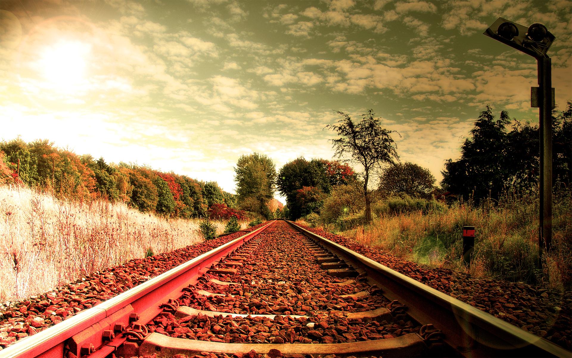 рельсы железная дорога деревья туннель  № 3118428 без смс