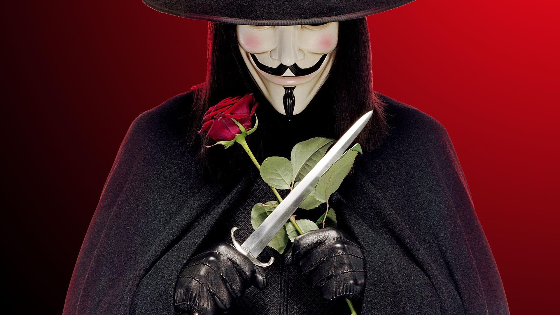 Обои V значит Vendetta для рабочего стола – картинка #27619 ...