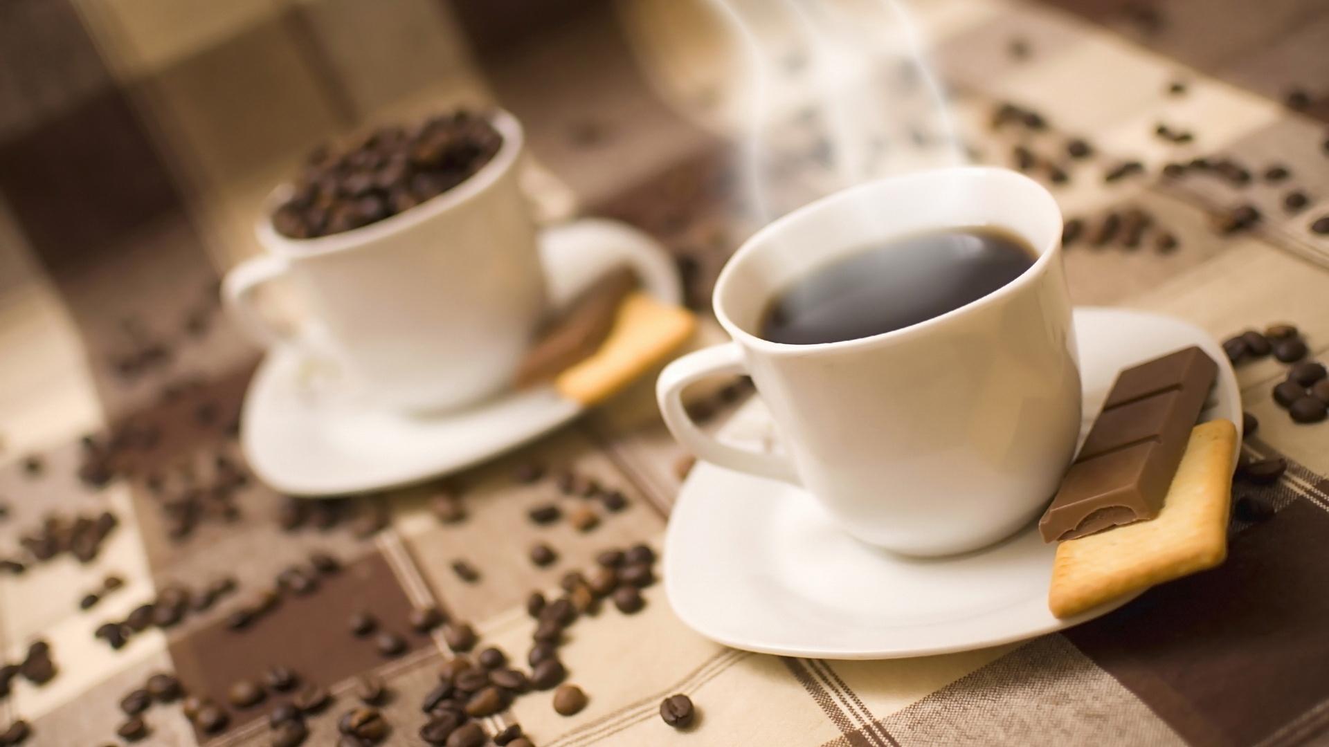 обои на рабочий стол чашка кофе и шоколад № 246739 загрузить