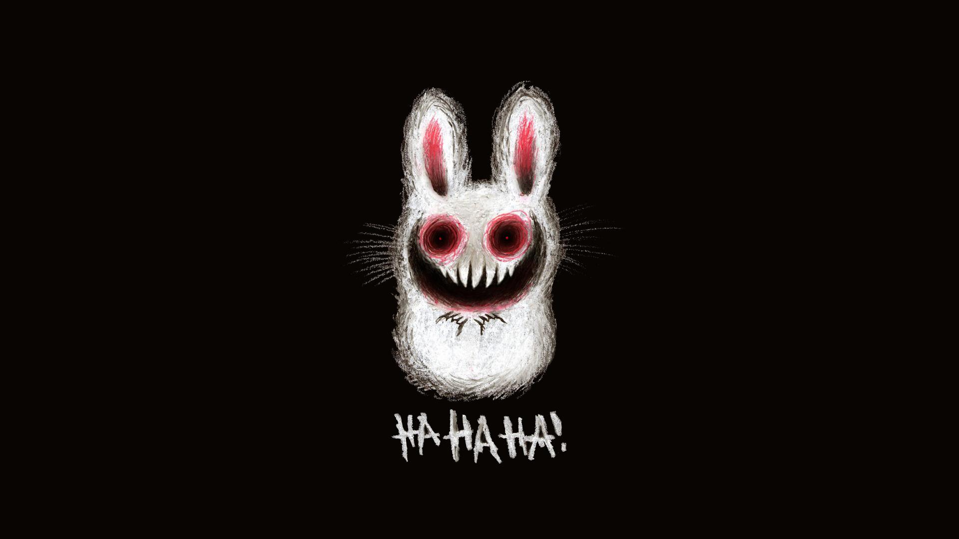 черно-белый кролик онлайн