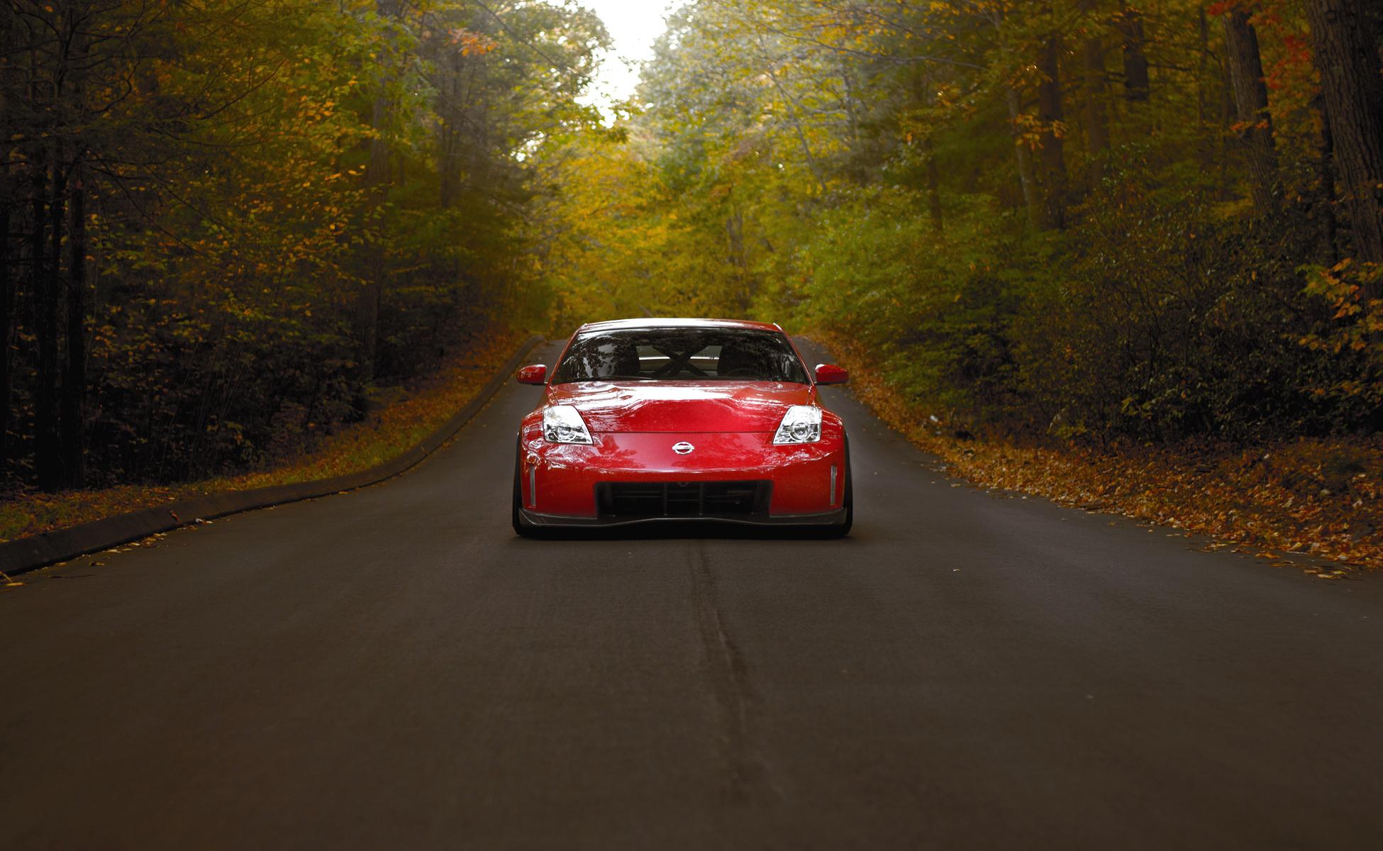 автомобиль осень лес дорога бесплатно