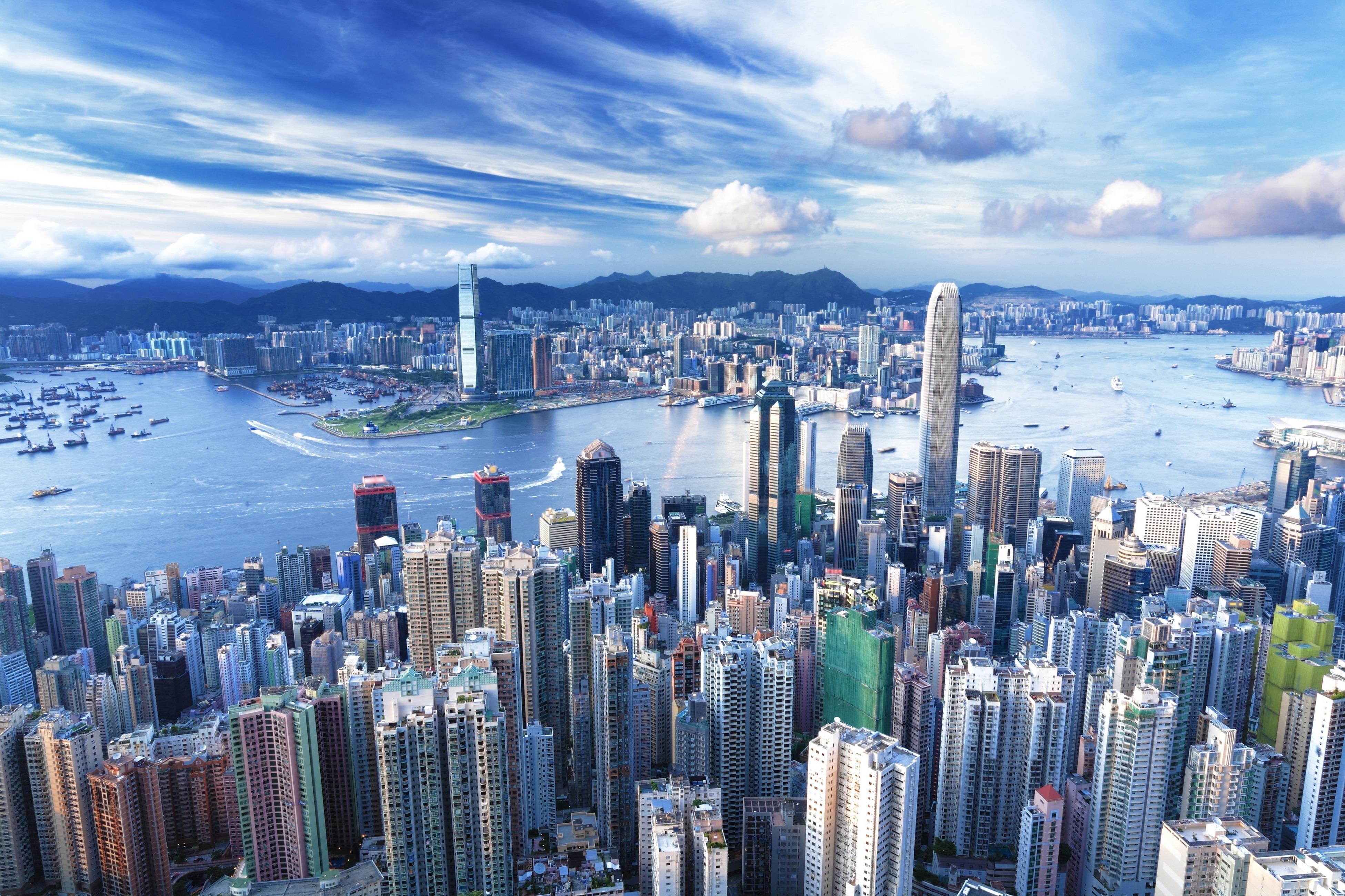 страны архитектура ночь Гонконг  № 1481699 загрузить