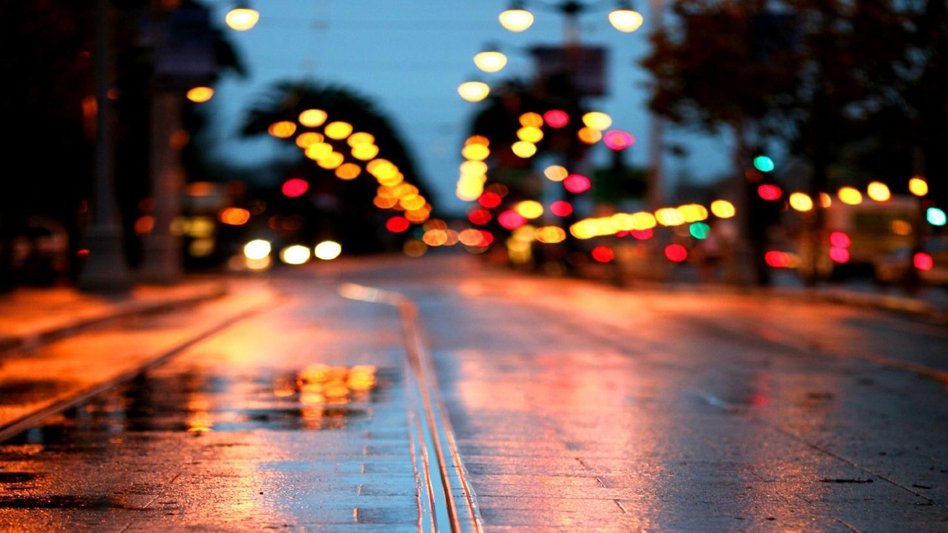 Франция дороги ночь фонари  № 2229309 бесплатно