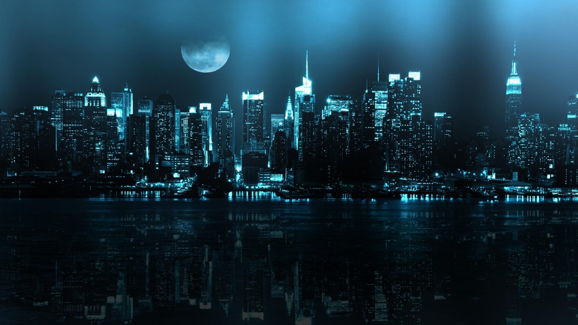 Обои ночь, Вода. Города foto 18