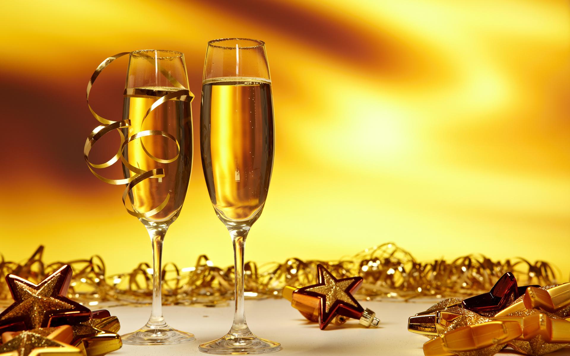 бокалы шампанского на праздник бесплатно