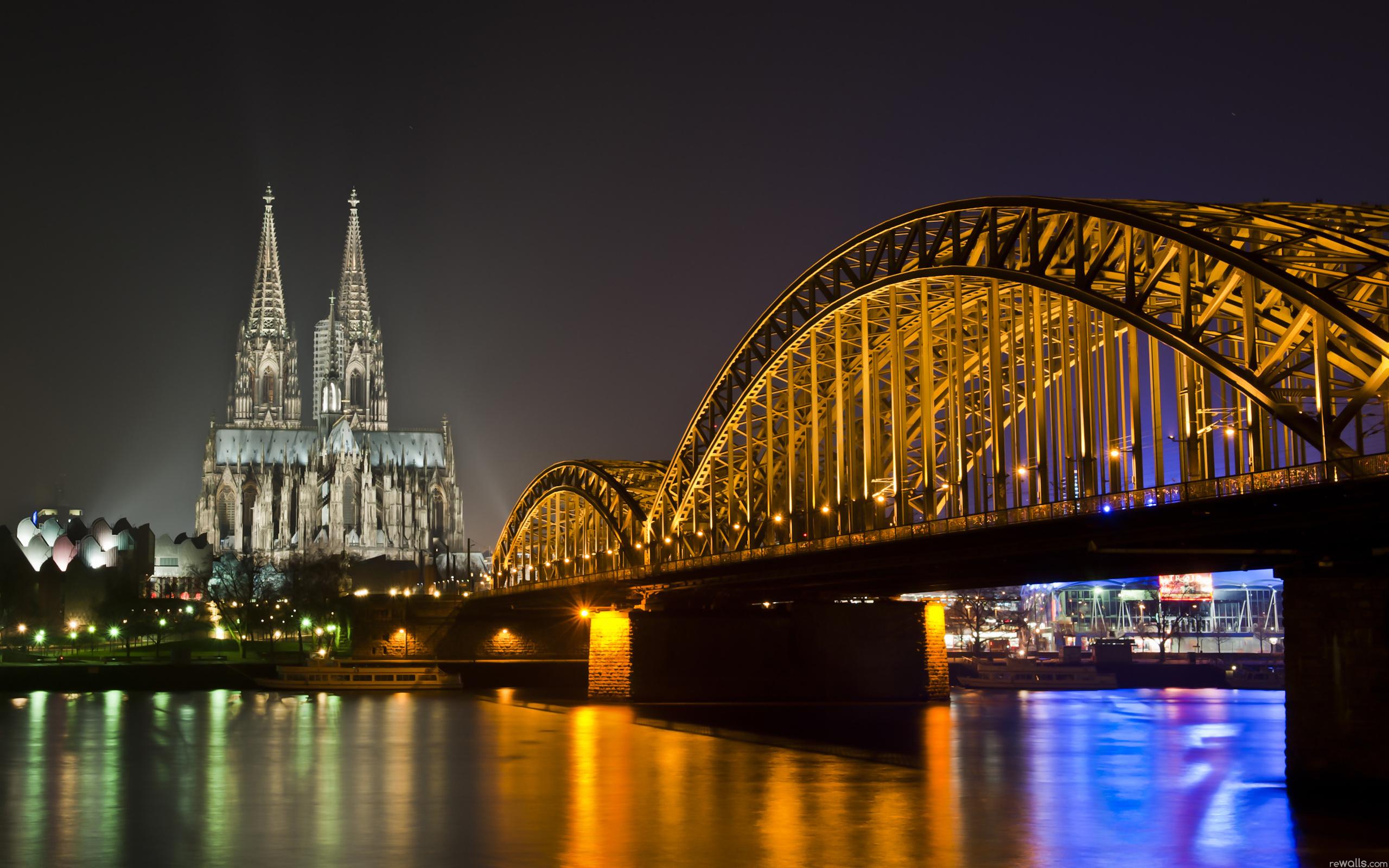 природа страны архитектура ночь река город мост  № 806800 без смс