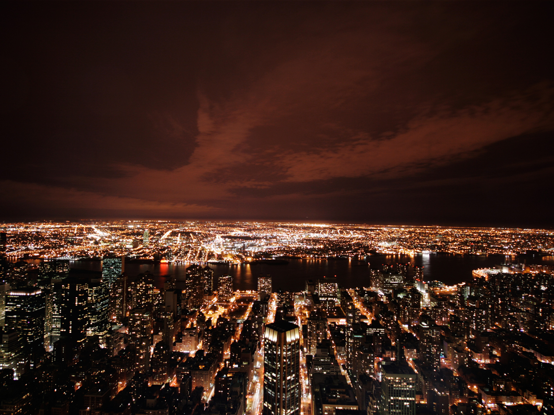 Город ночь небо  № 3705716  скачать