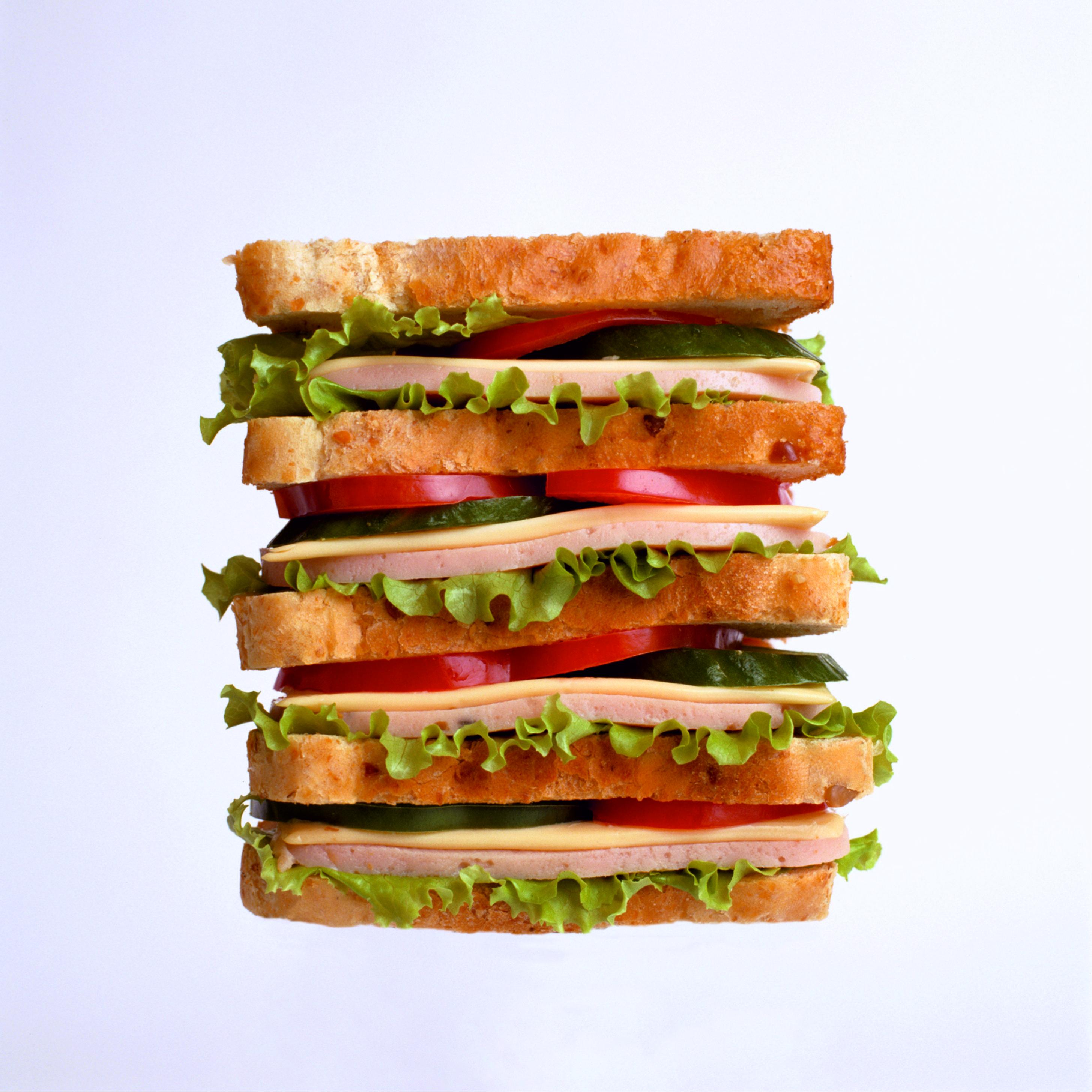 Ветчина гамбургер завтрак  № 2141527 загрузить