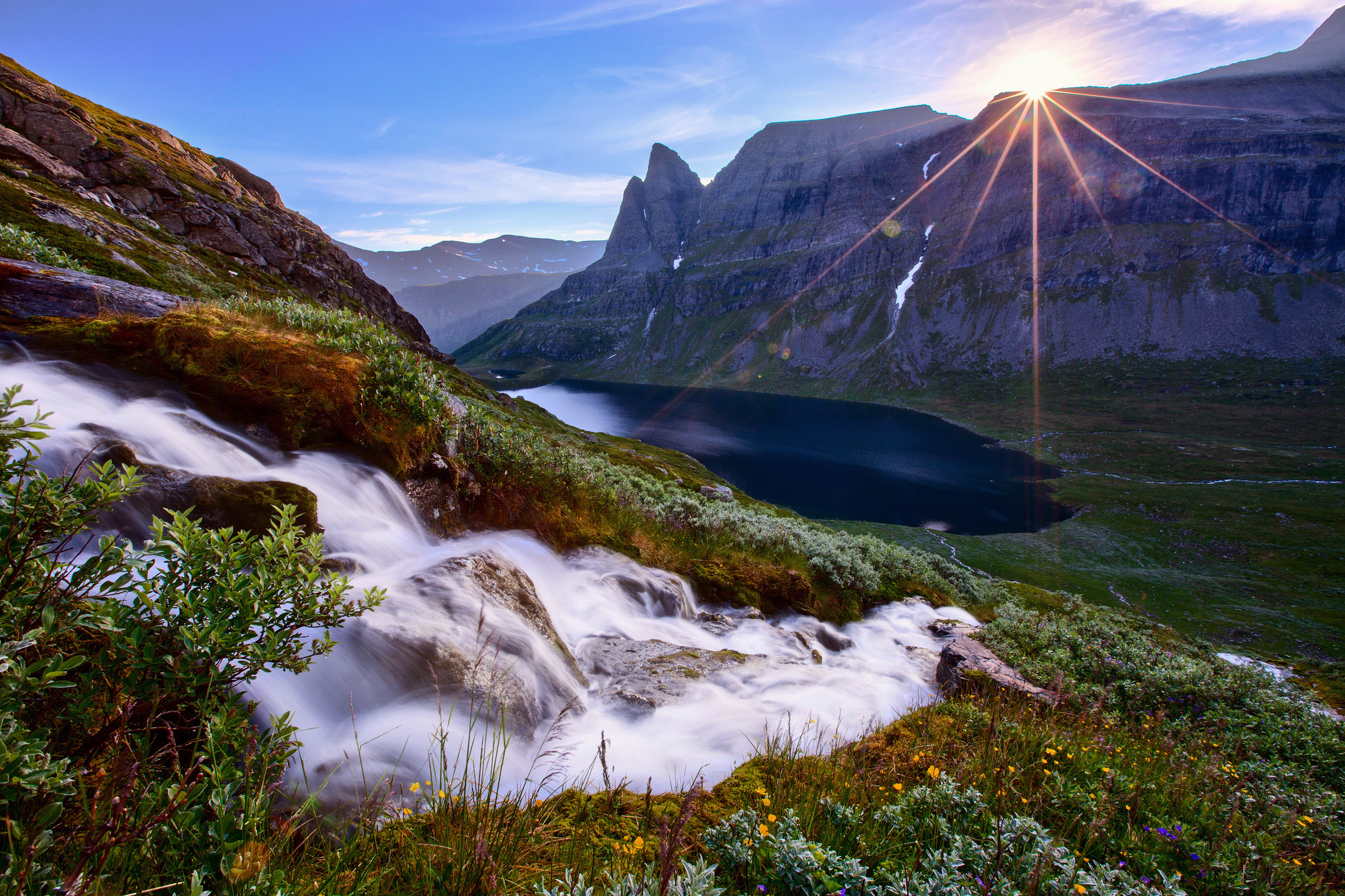 горы склон небо бесплатно