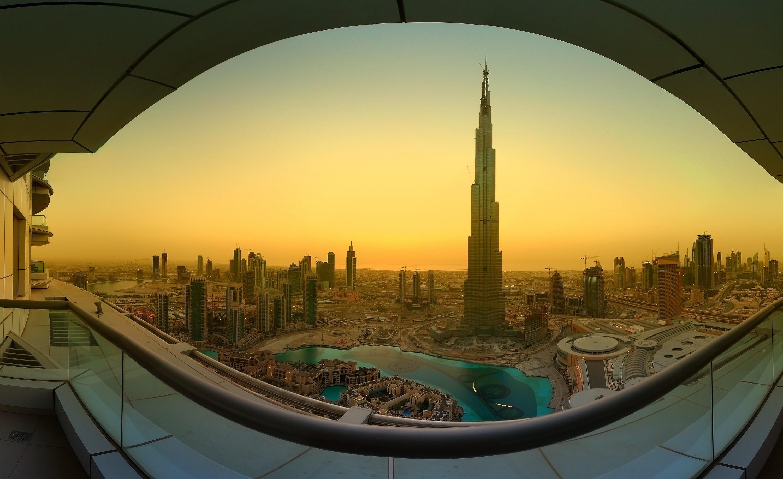 страны архитектура небоскреб рассвет Дубаи объединенные арабские эмираты без смс