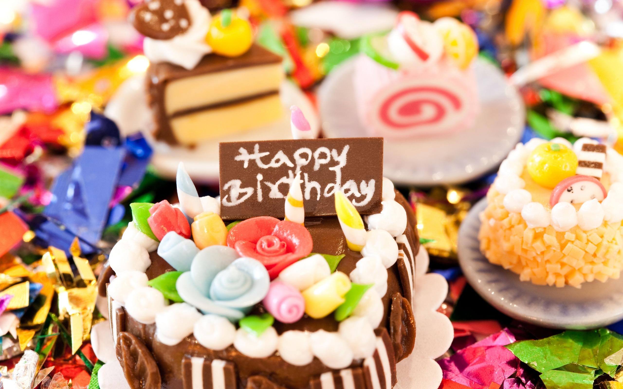 Открытки с днем рождения торт фото