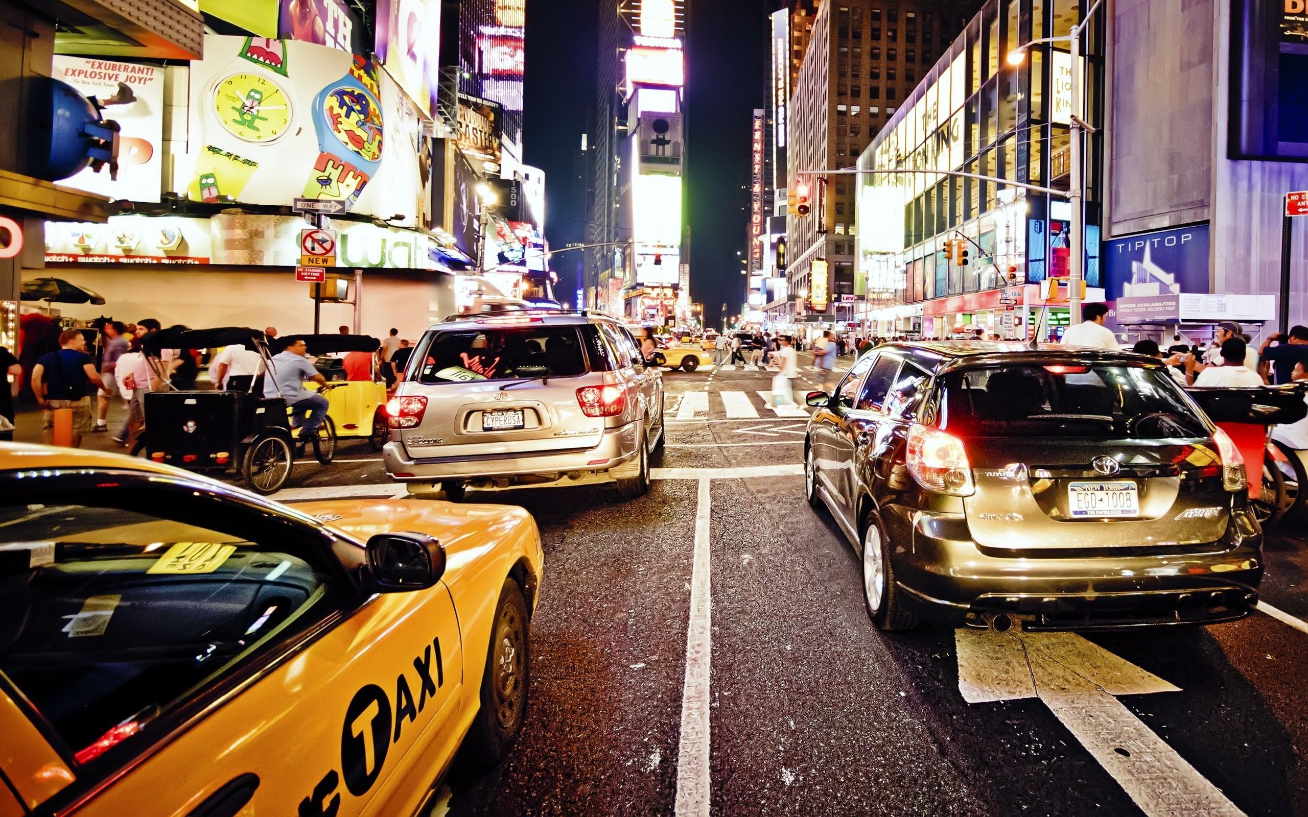Обои такси, улица. Города foto 16