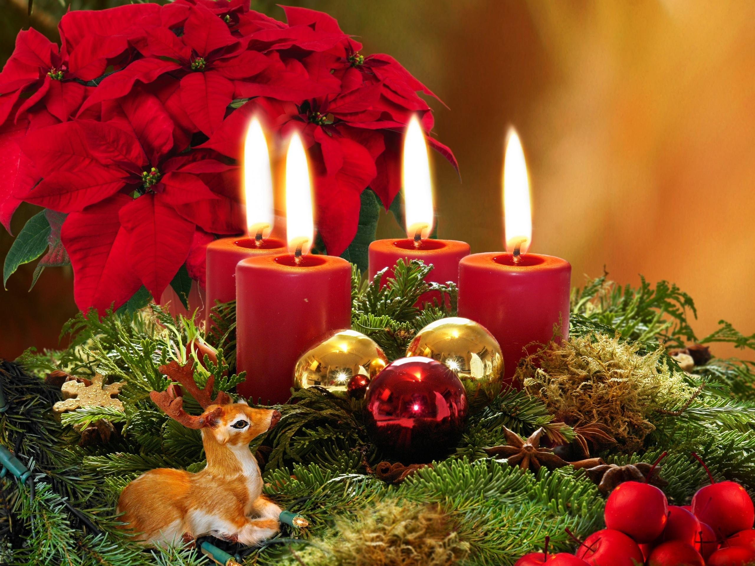 Открытки рождественская свеча, метле гифка открытки