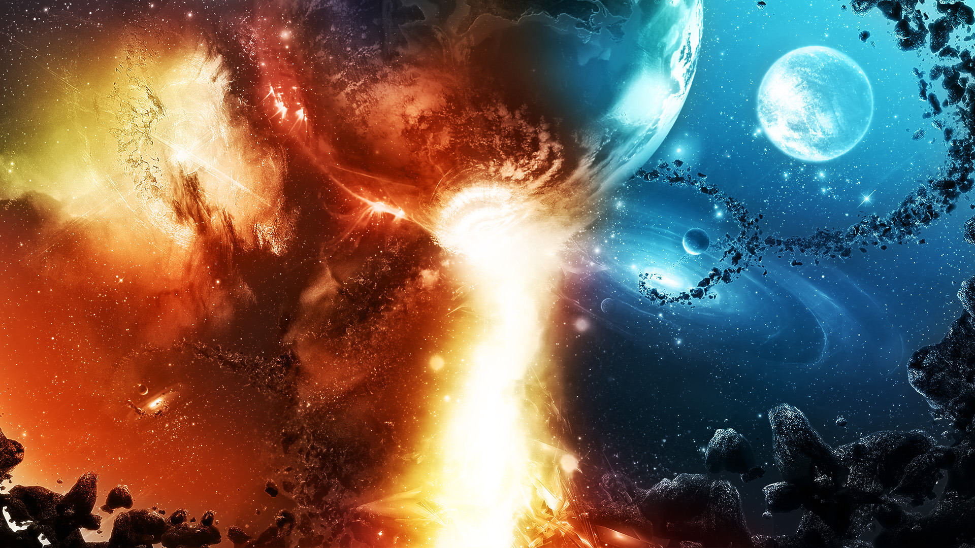 Обои Взрыв квазар звезда картинки на рабочий стол на тему Космос — скачать в хорошем качестве