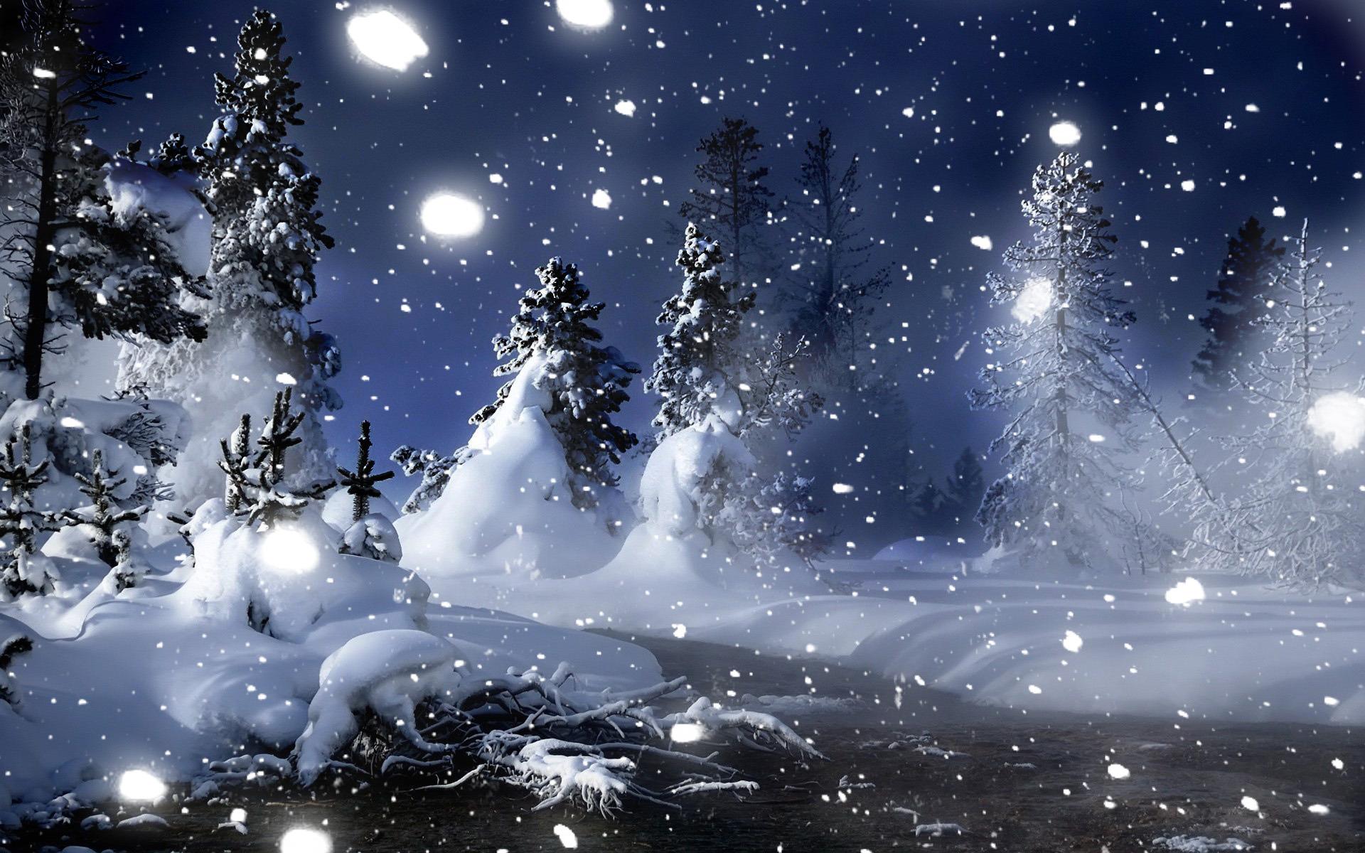 Ночь снег зима скачать