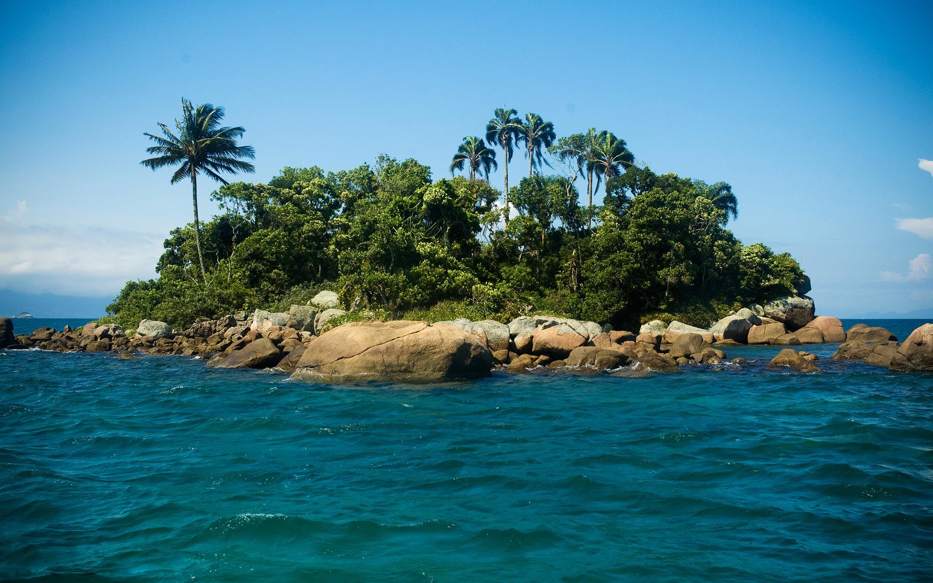 маленькие острова среди гор  № 253100 загрузить