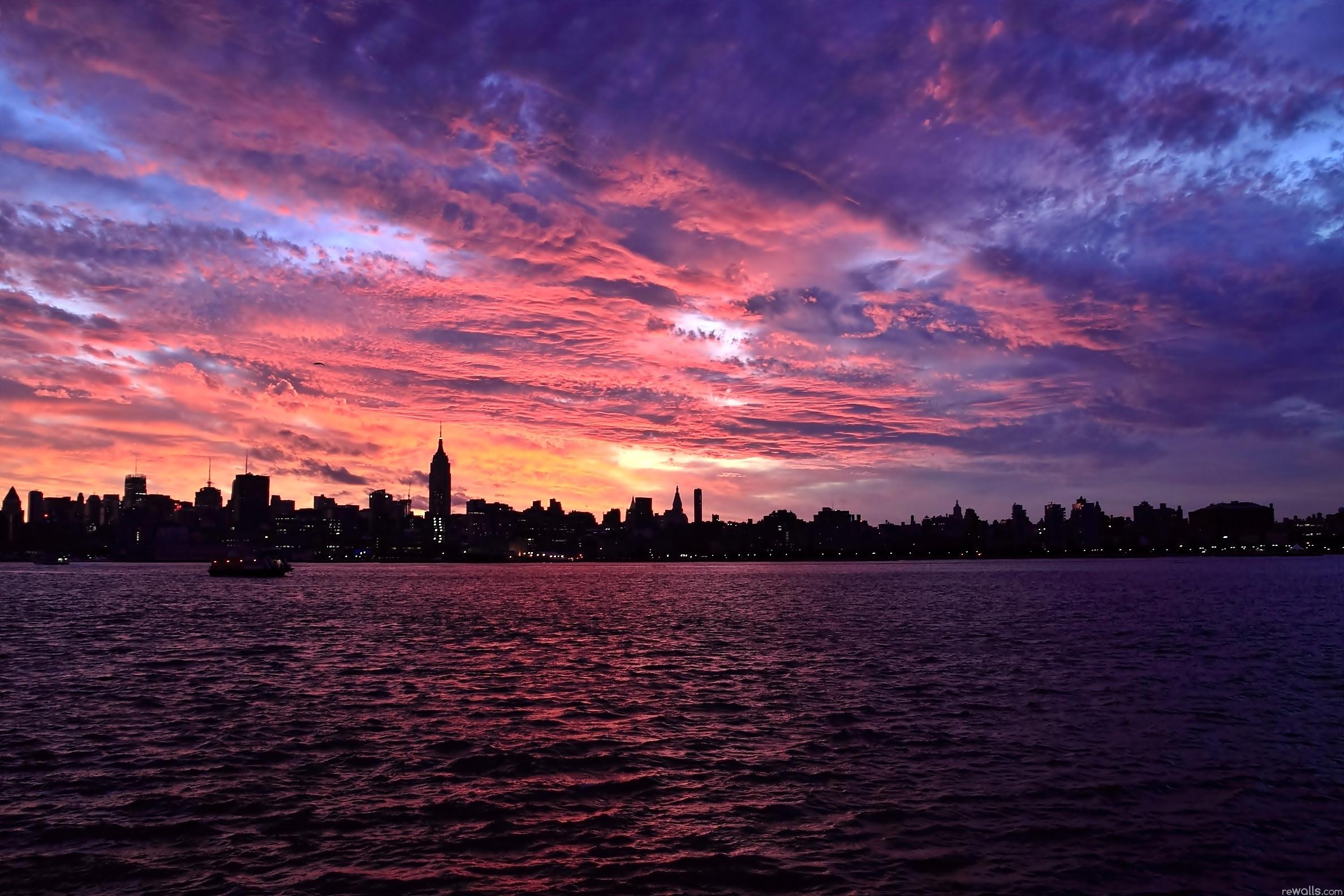 город огни небо море загрузить