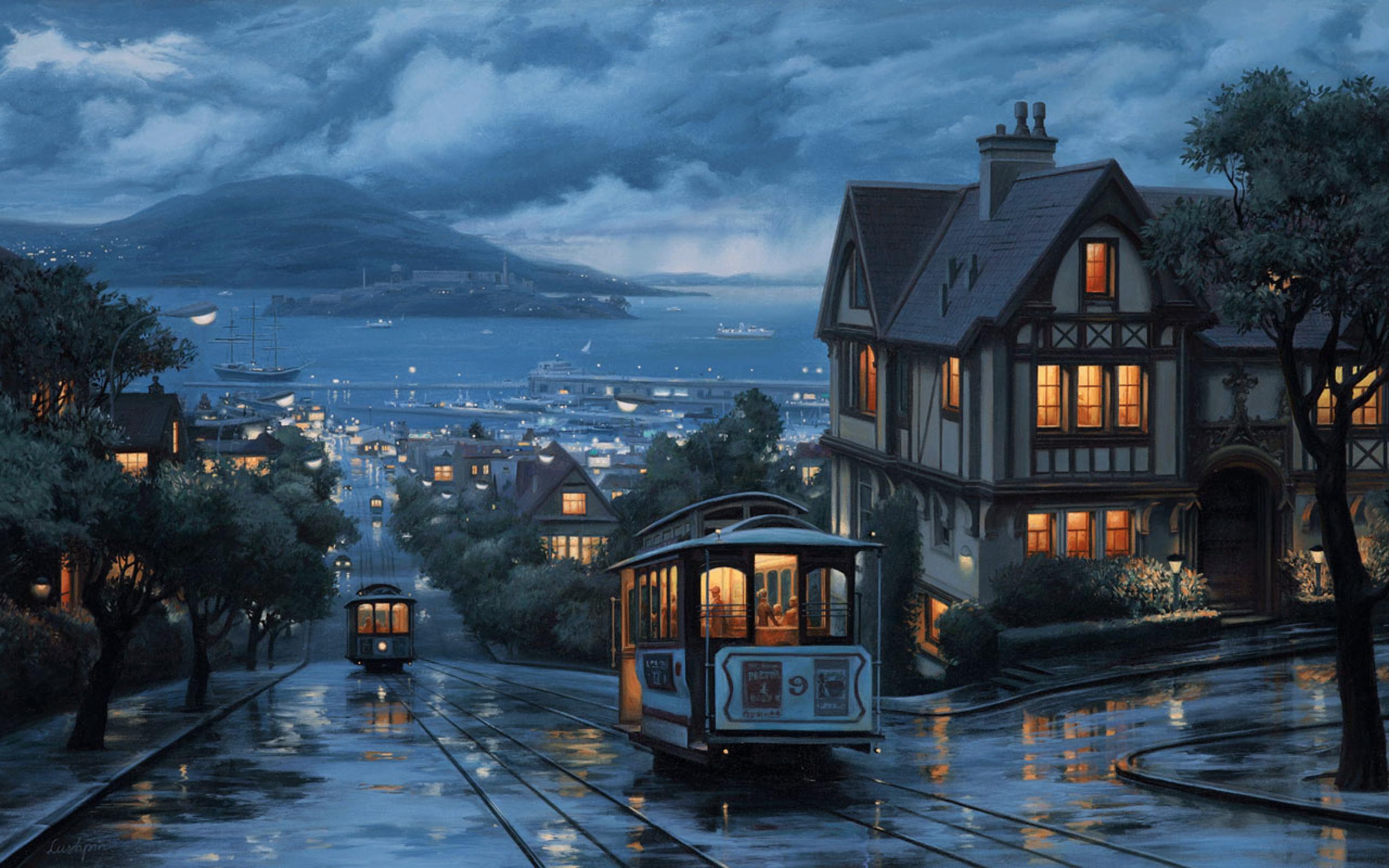 этой картинки домов в городе ночью никогда мечтала