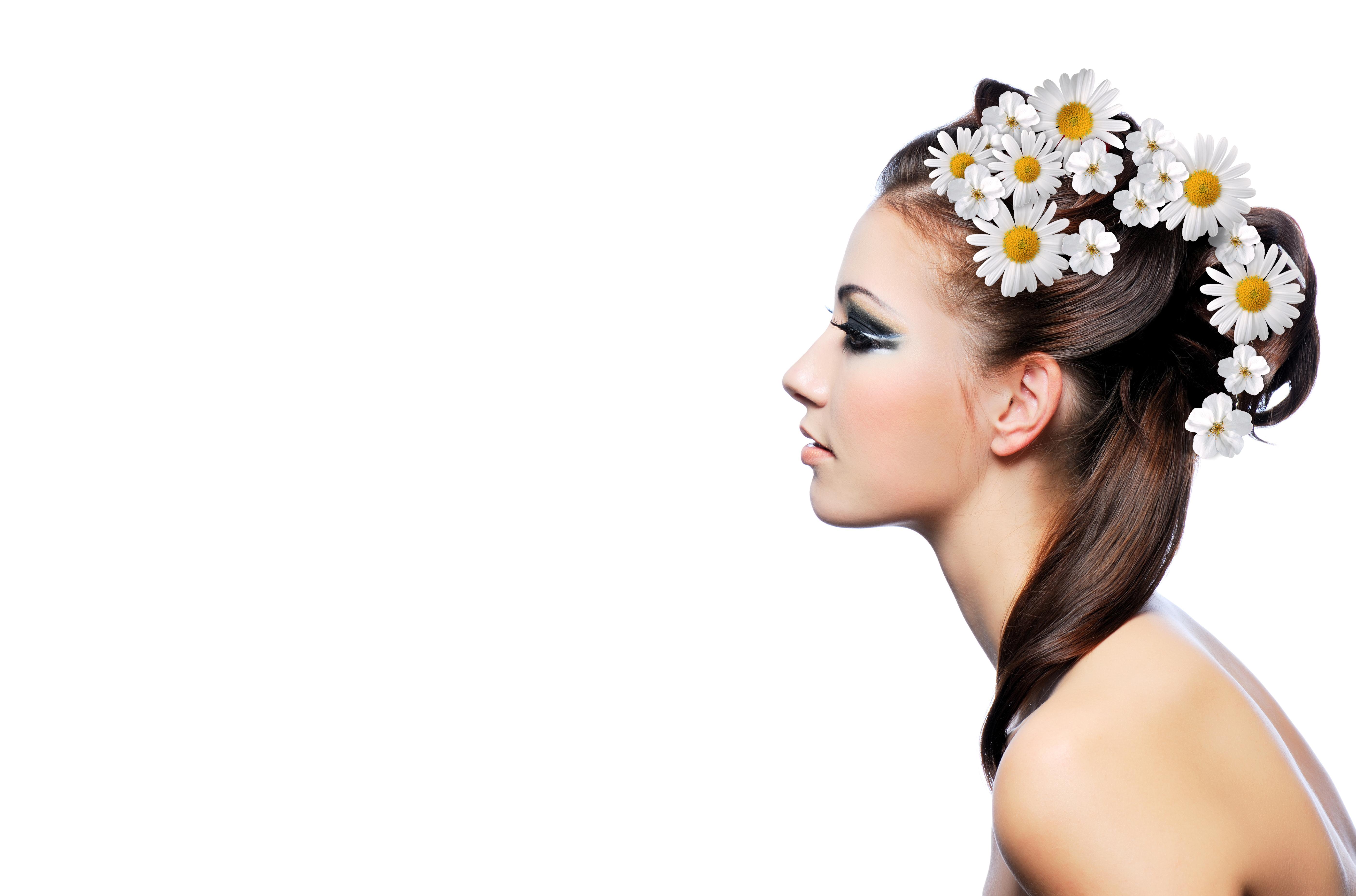 девушка блондинка весна венок цветы скачать