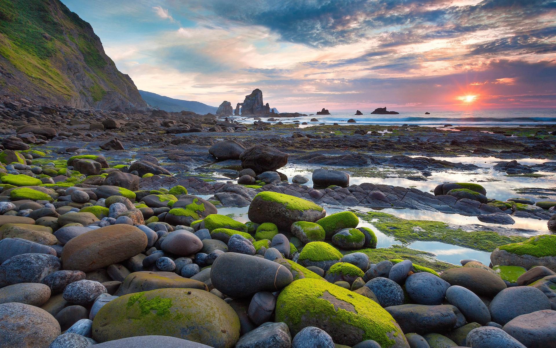 Камень море берег  № 1356418  скачать