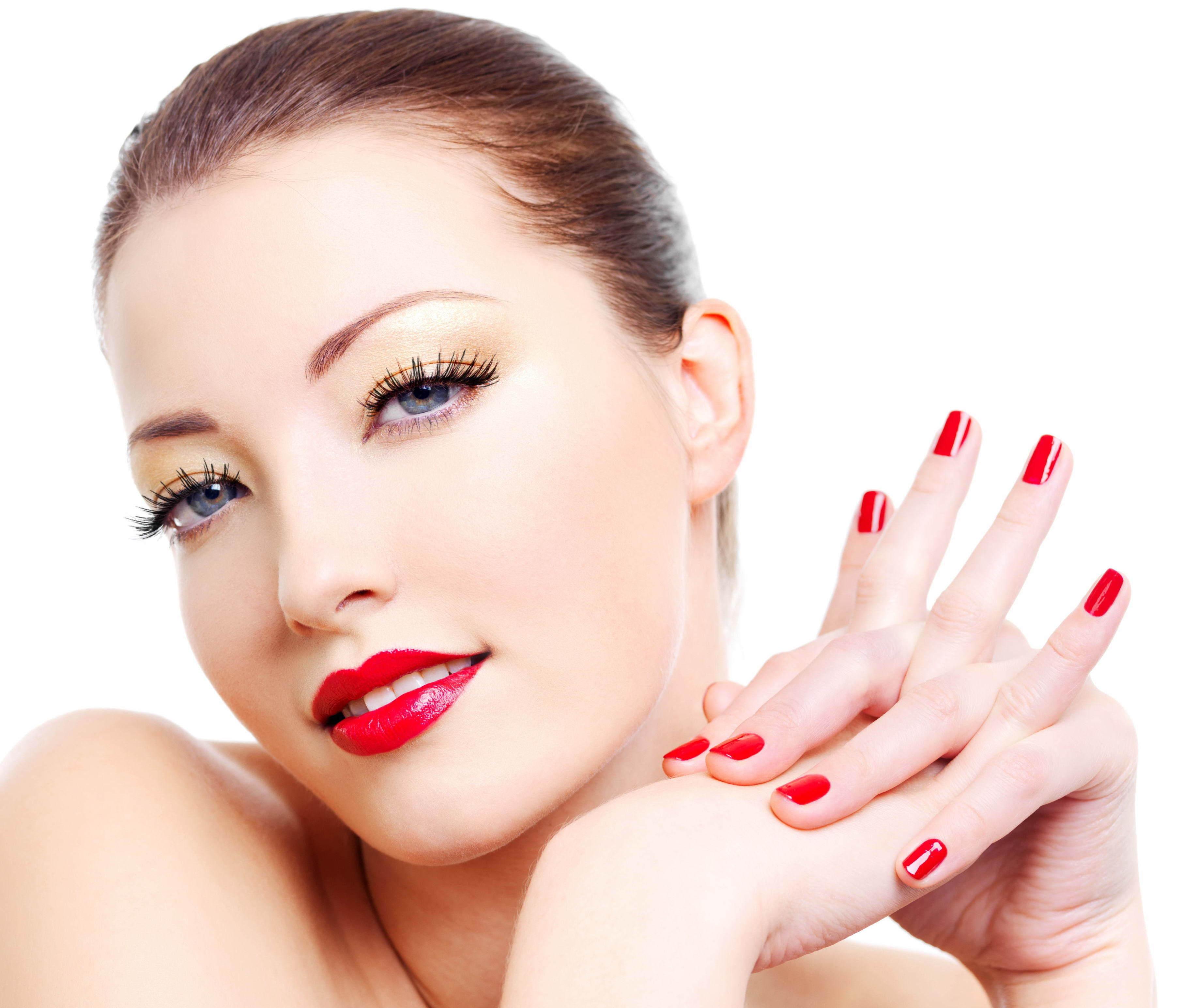 картинка лицо и красивые ногти