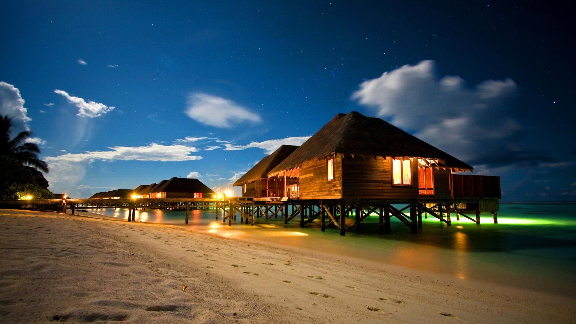 ночной пляж загрузить