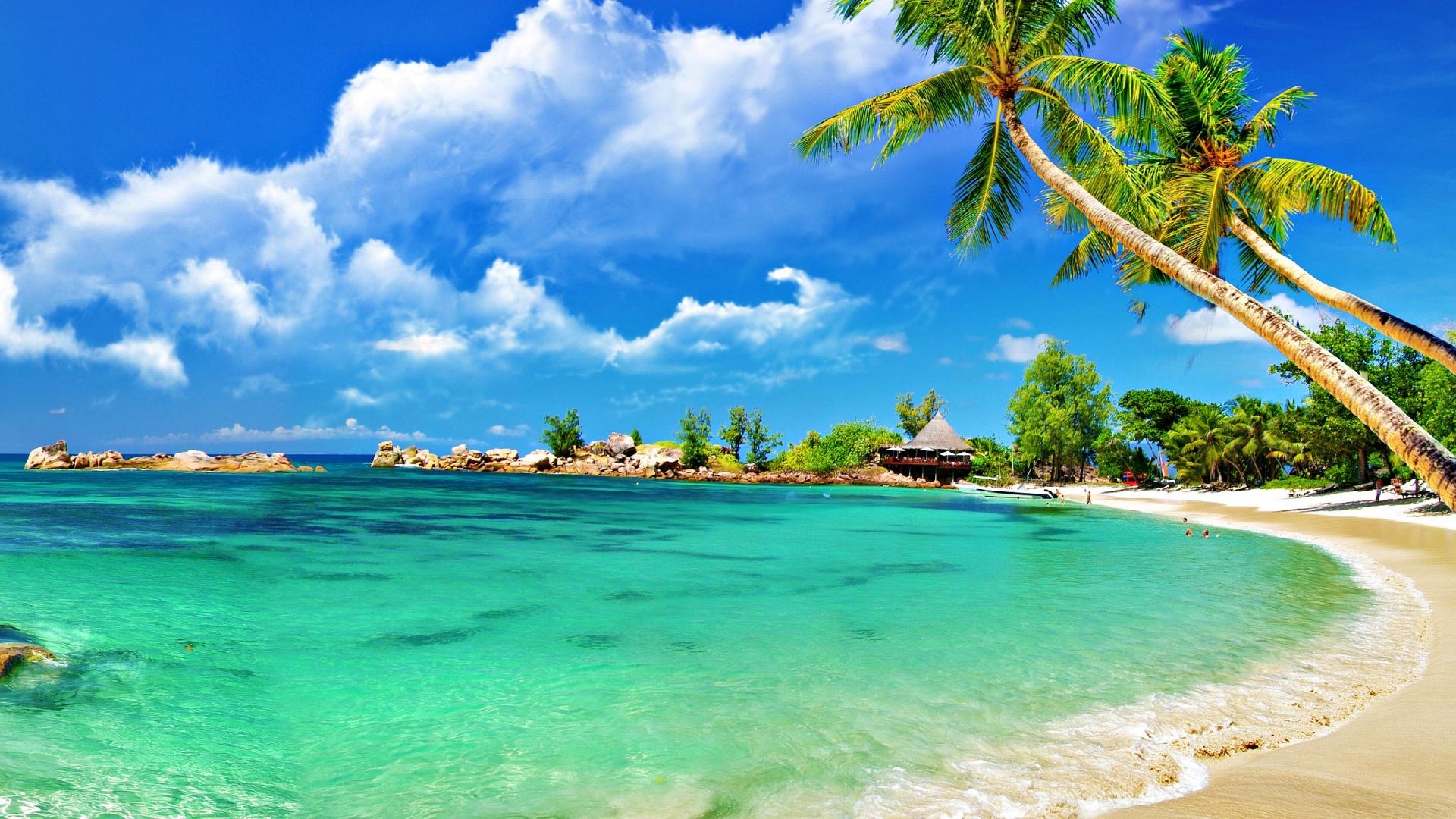 летние пляжи обои на рабочий стол № 491158 бесплатно