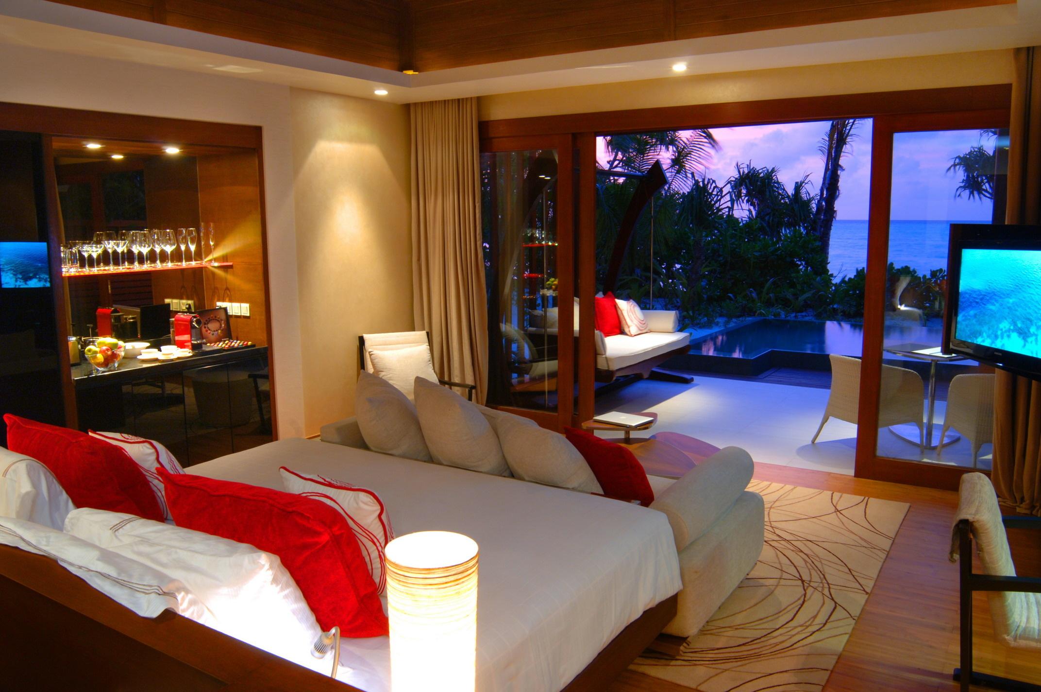 Мальдивы номера отеля отдых The Maldives the rooms the rest  № 333963 без смс