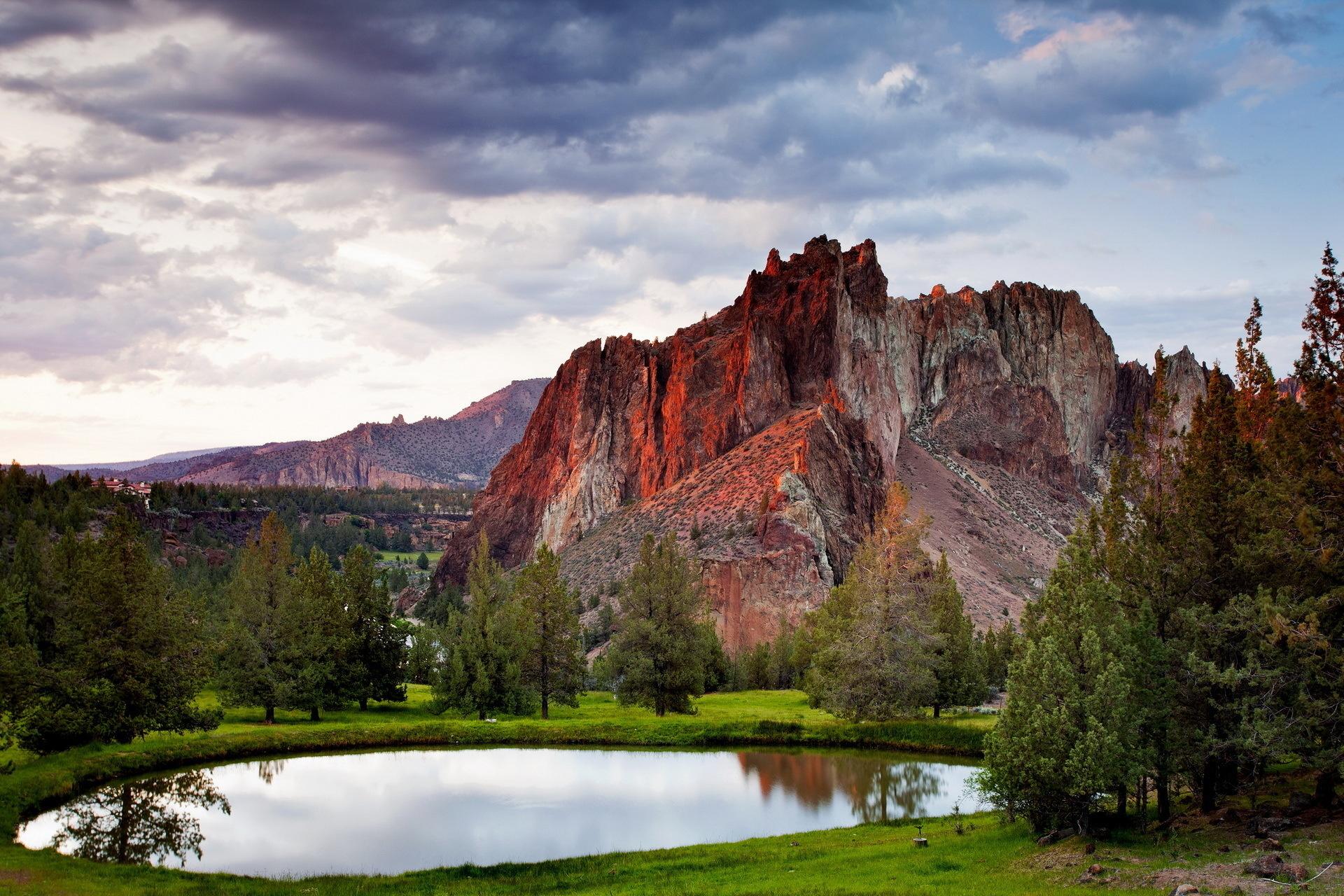 природа деревья озеро горы скалы nature trees the lake mountains rock  № 400456 загрузить