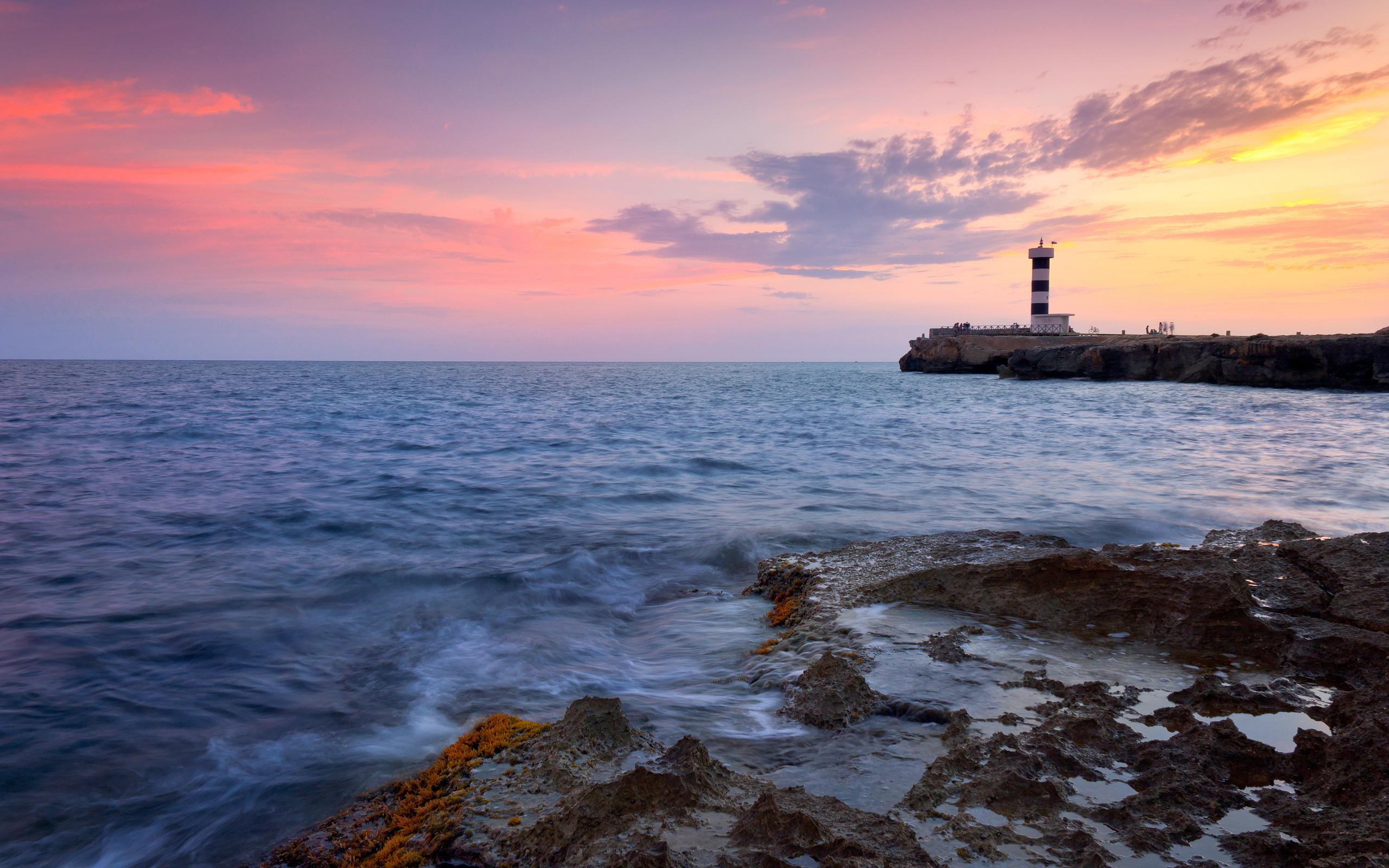 маяк море берег lighthouse sea shore  № 2220730 без смс