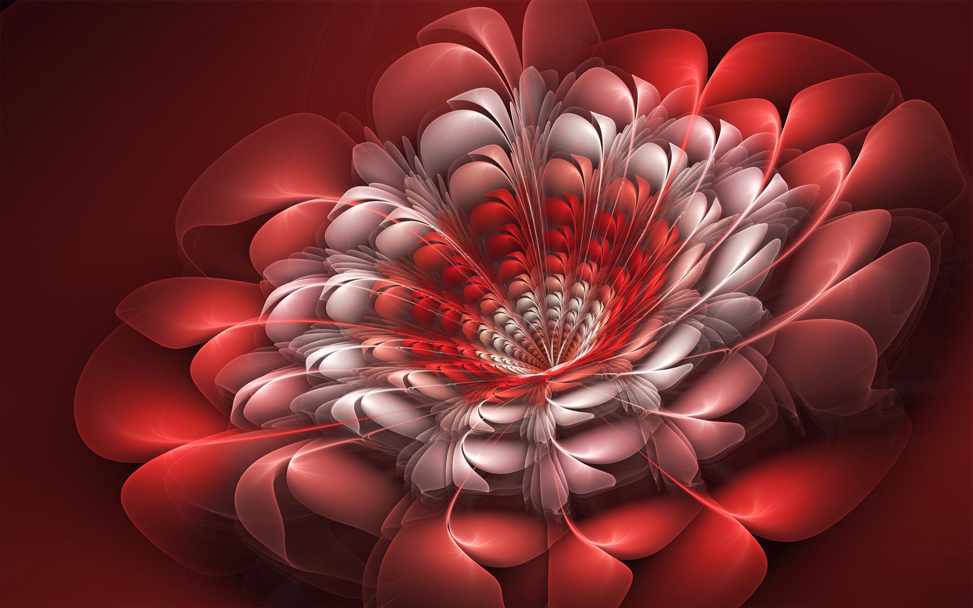 фрактал абстракция красная  № 3675091 без смс
