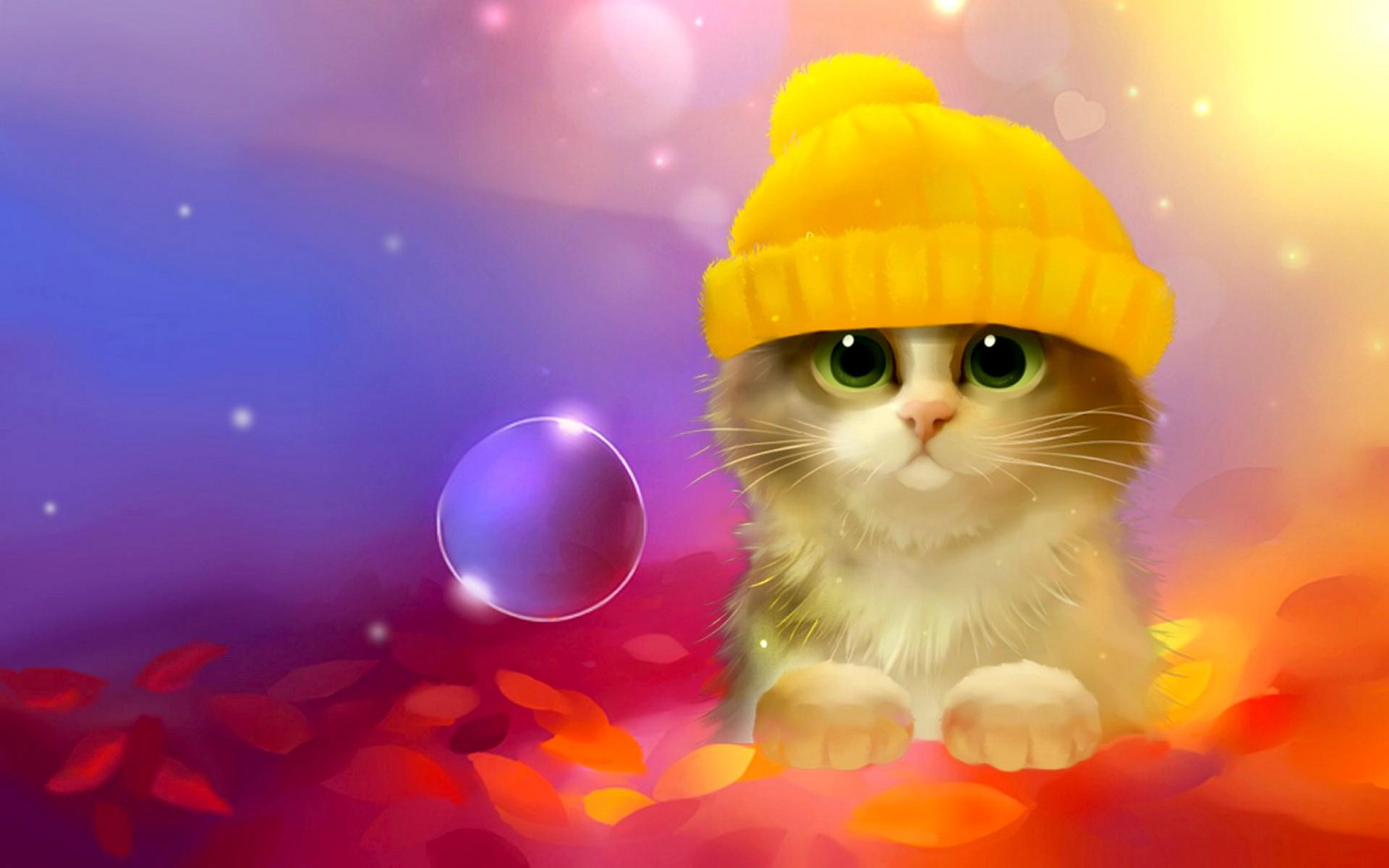 Кот под шапкой  № 3059215 без смс