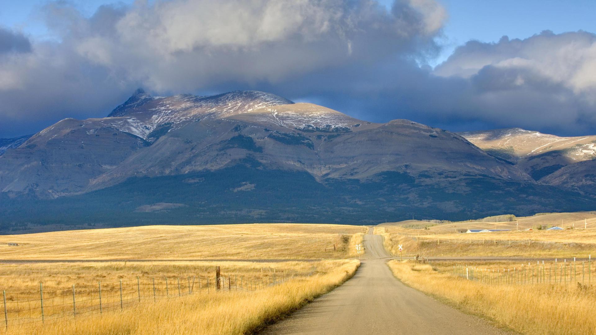 Дорога по вершине горы смотреть