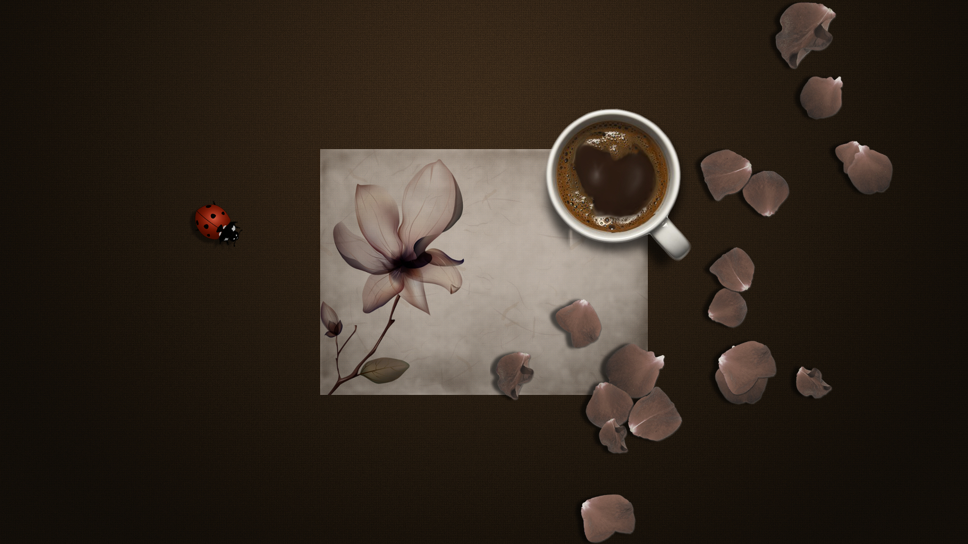 Чашка кофе с бабочкой в хорошем качестве