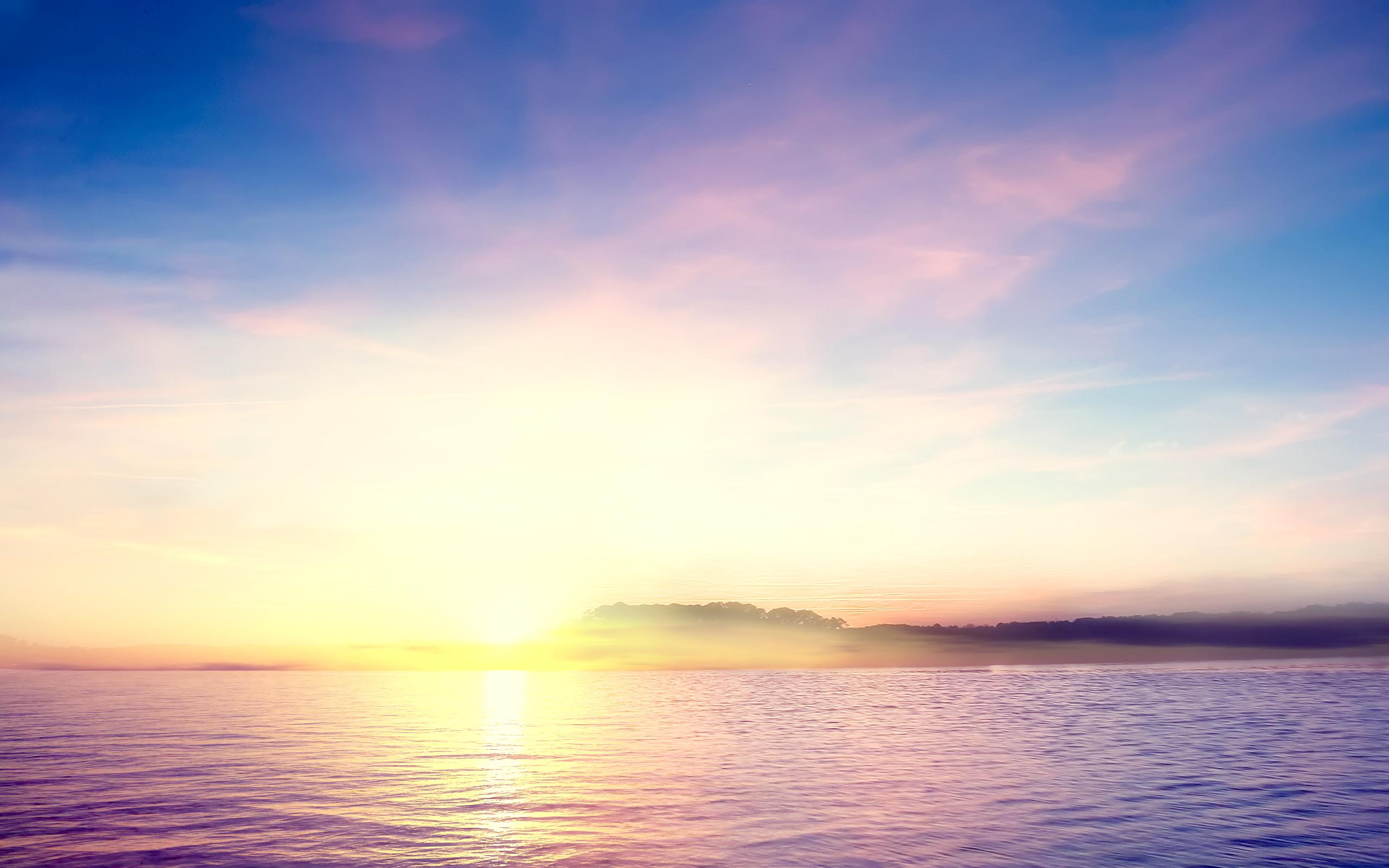 закат солнце озеро бесплатно
