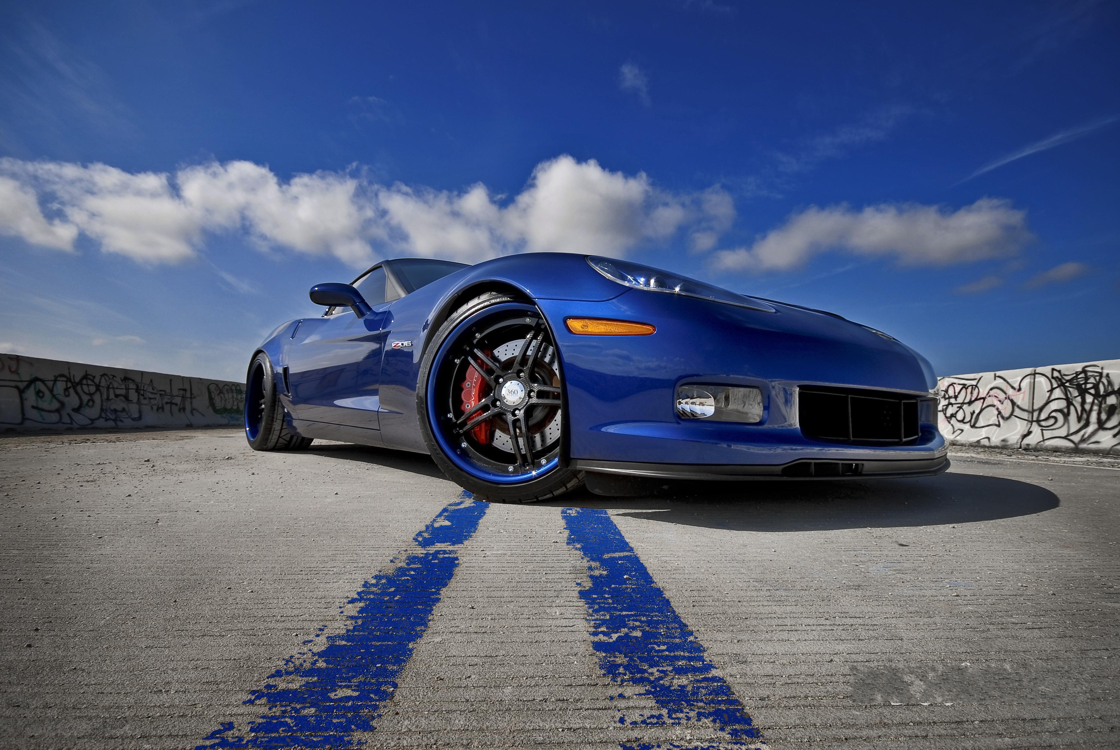 синий автомобиль  № 109370  скачать