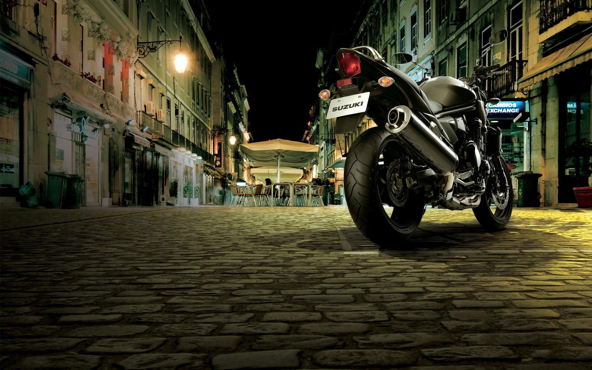 мотоцикл ночь город  № 1584593  скачать