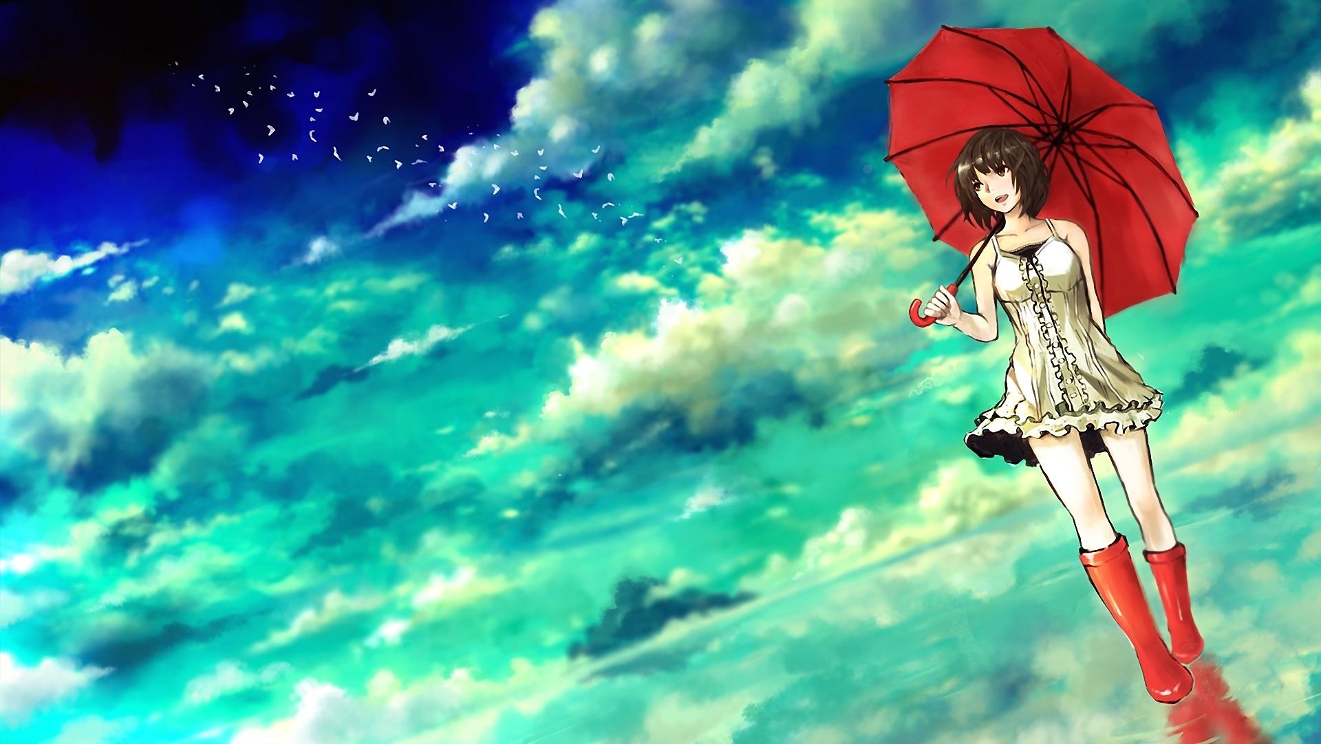 Милая двушка под зонтиком без смс