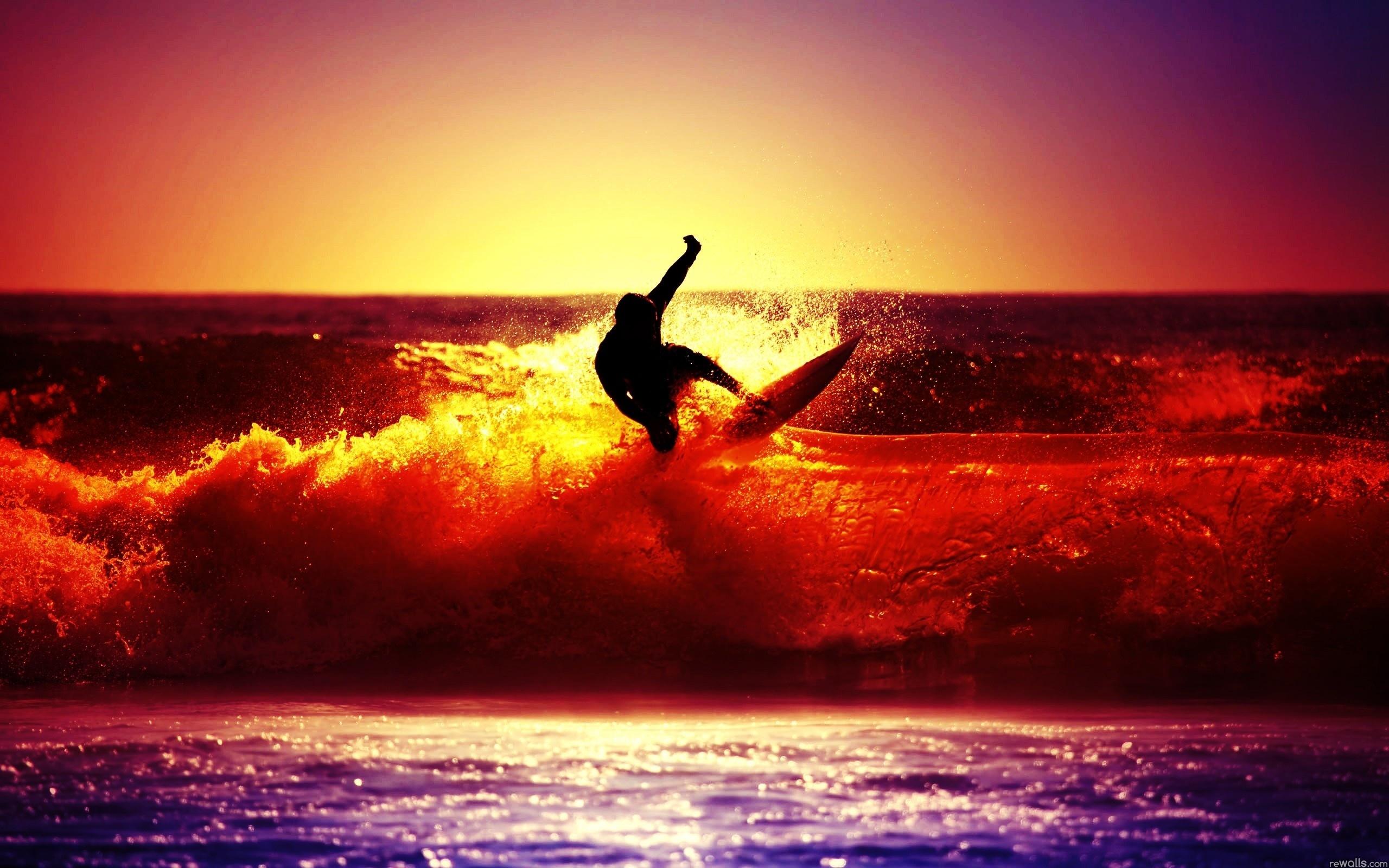 серфинг закат волны без смс