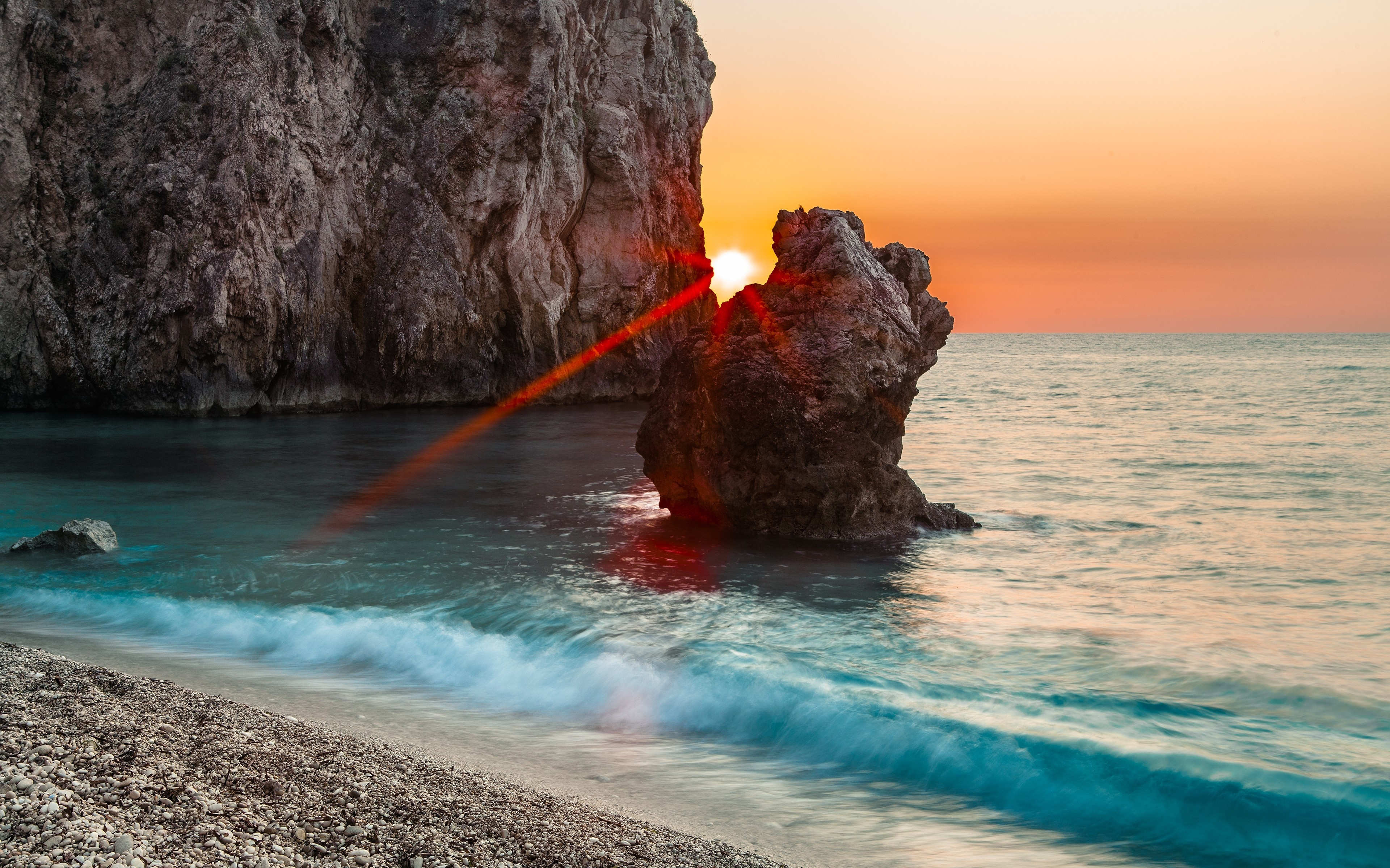 Скалы берег море солнце  № 2719575 загрузить