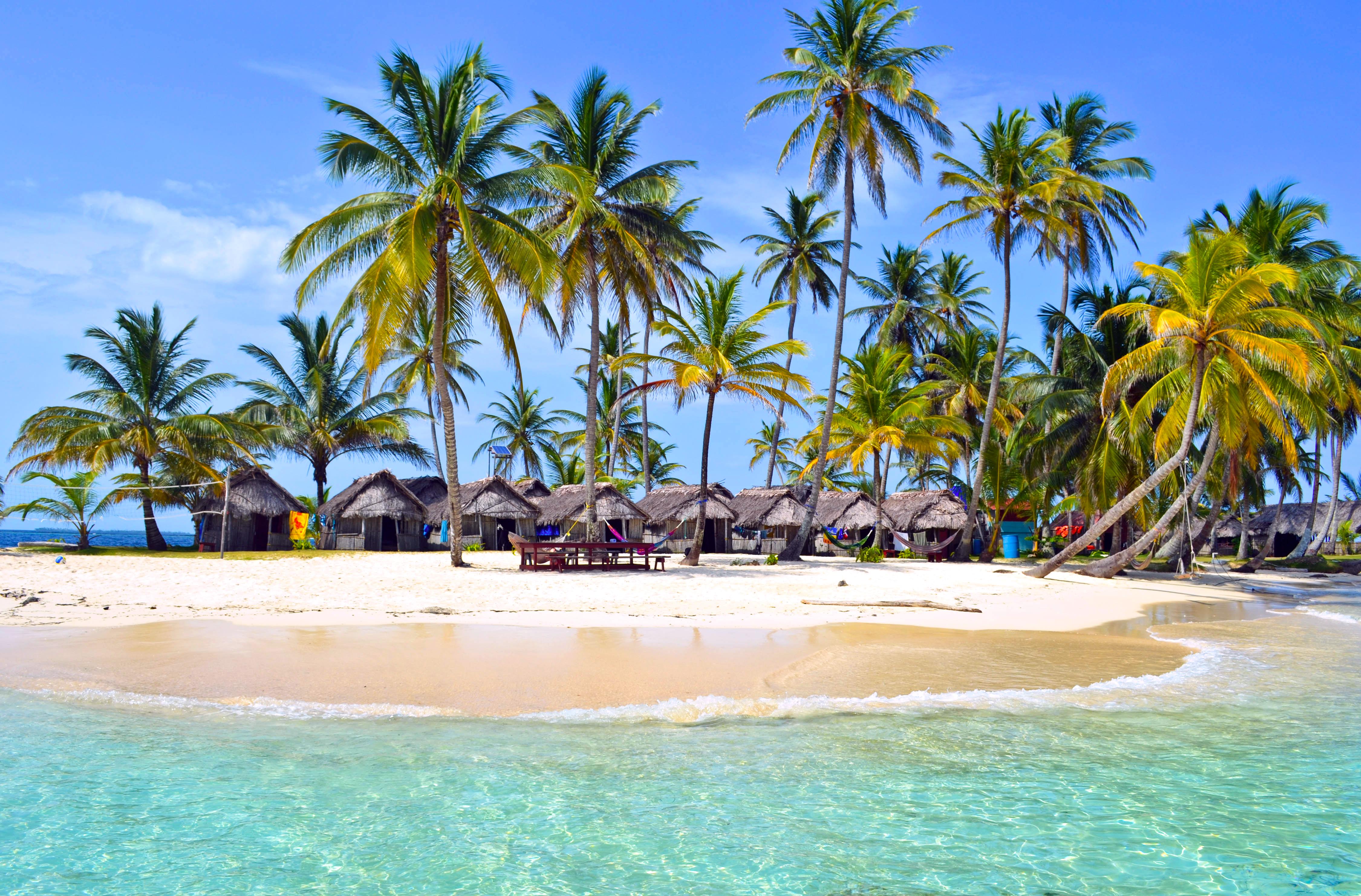 Пляжи на островах с пальмами фото