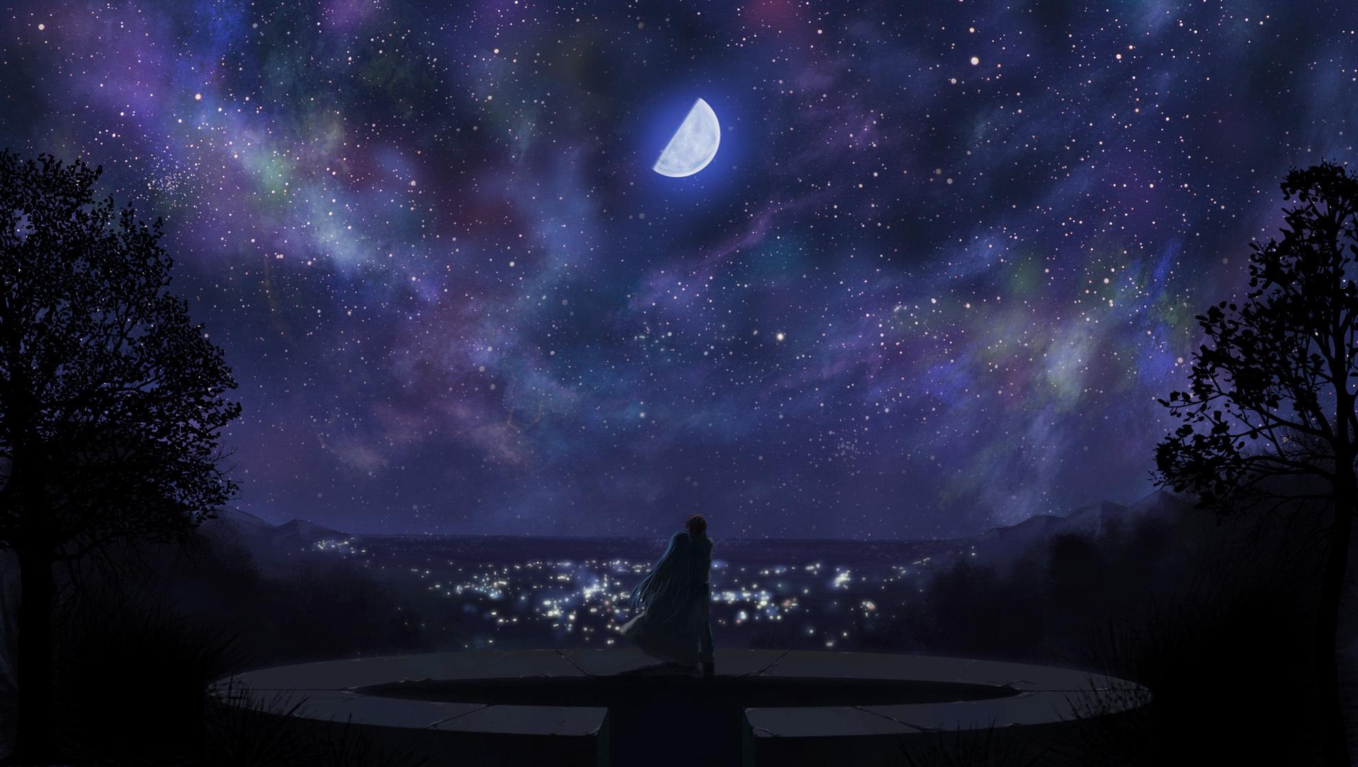 небесные фонари рыцарь меч луна  № 3714292  скачать