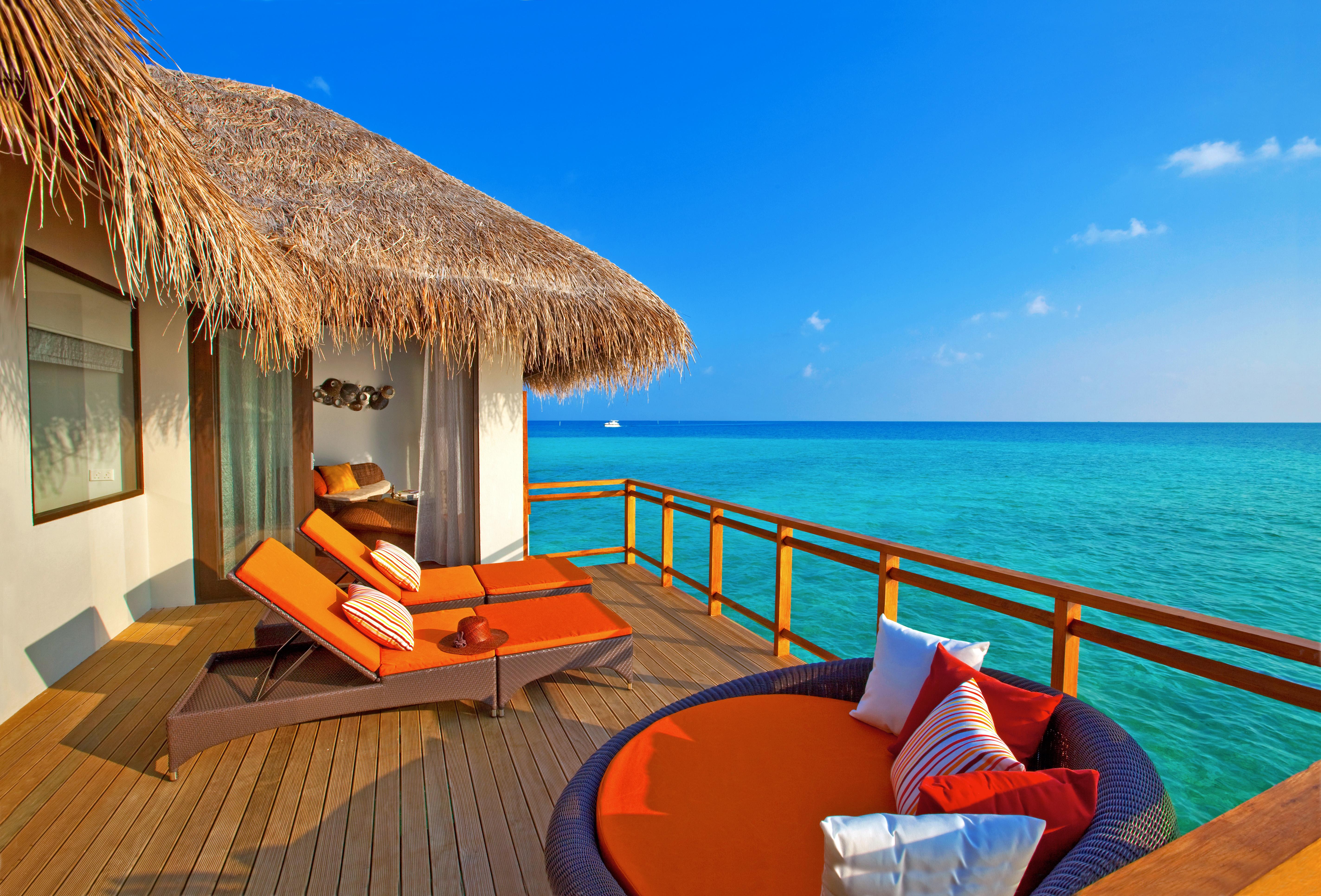 Мальдивы номера отеля отдых The Maldives the rooms the rest  № 333995  скачать