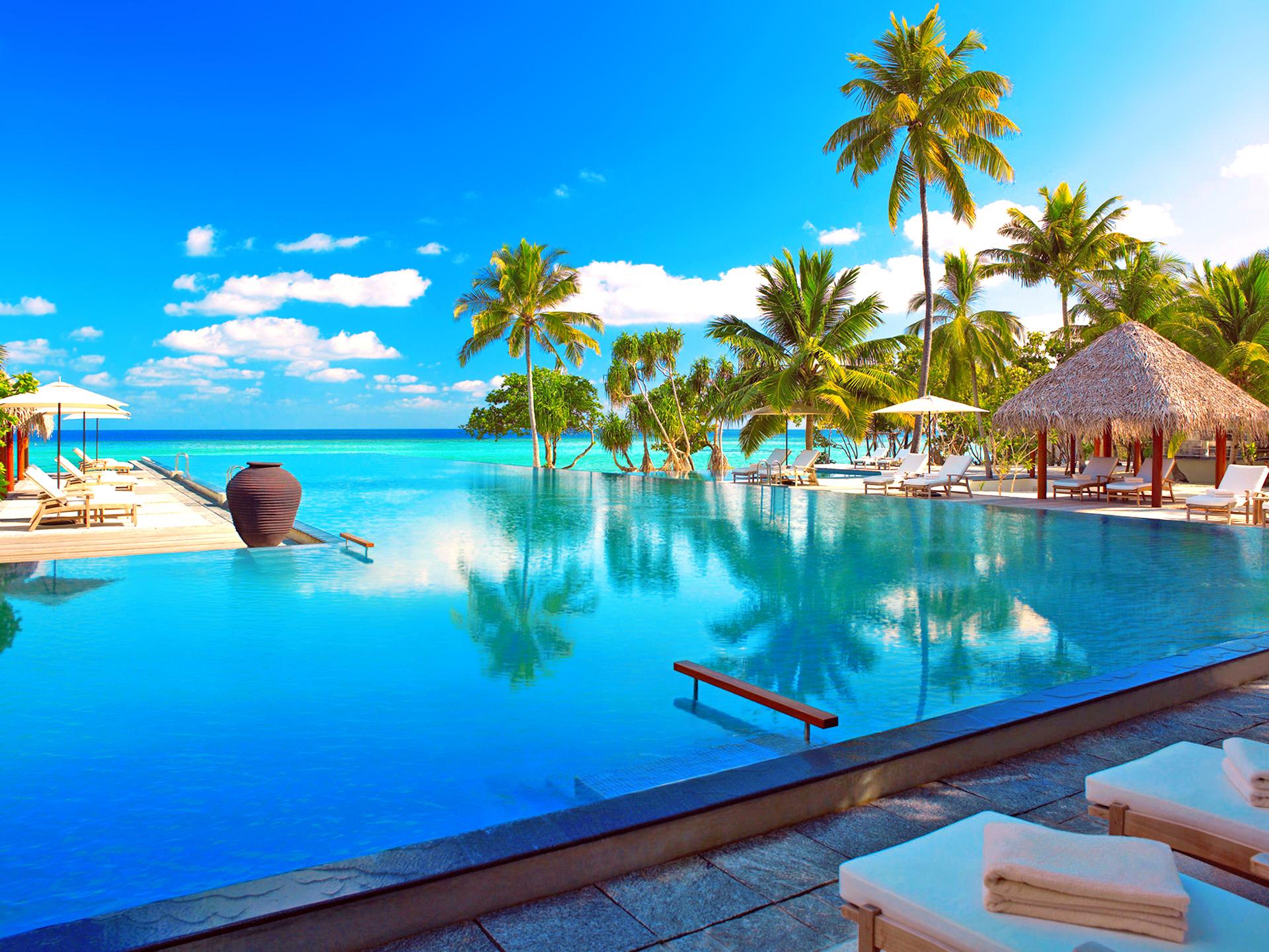 Мальдивы номера отеля отдых The Maldives the rooms the rest  № 334011  скачать